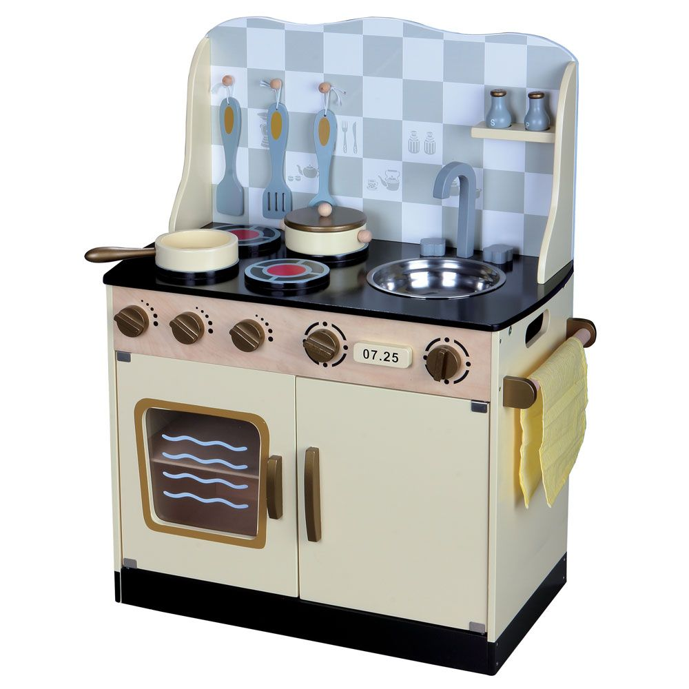 Childrens Wooden Kitchen  Kids Role Play Toy Kitchens  eBay -> Kuchnia Drewniana Dla Dziecka
