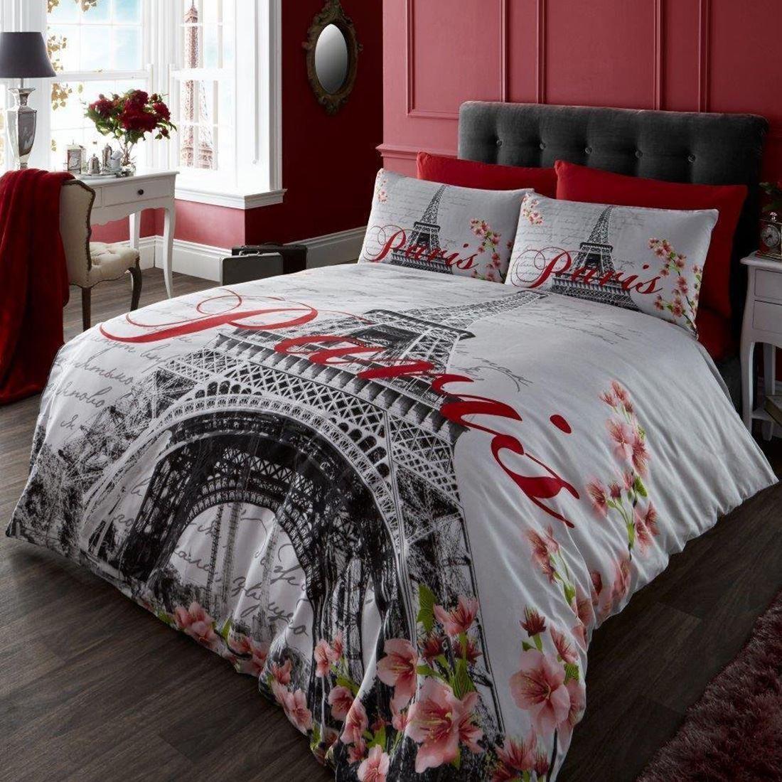 paris bettw sche einzel sets stadt wahrzeichen eiffelturm. Black Bedroom Furniture Sets. Home Design Ideas