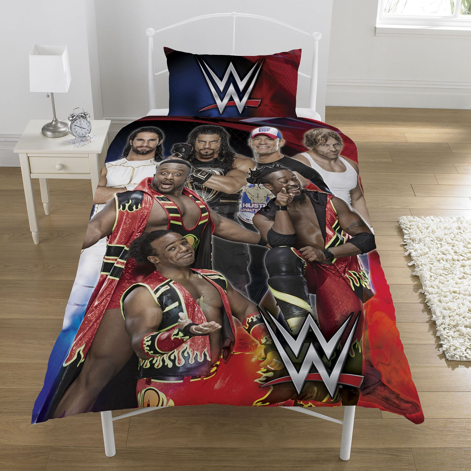 WWE SUPERSTARS SINGLE AND DOUBLE DUVET COVER SETS KIDS