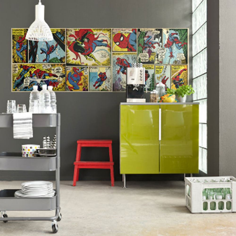 Marvel comics and avengers wallpaper wall murals d cor for Accessories decoration