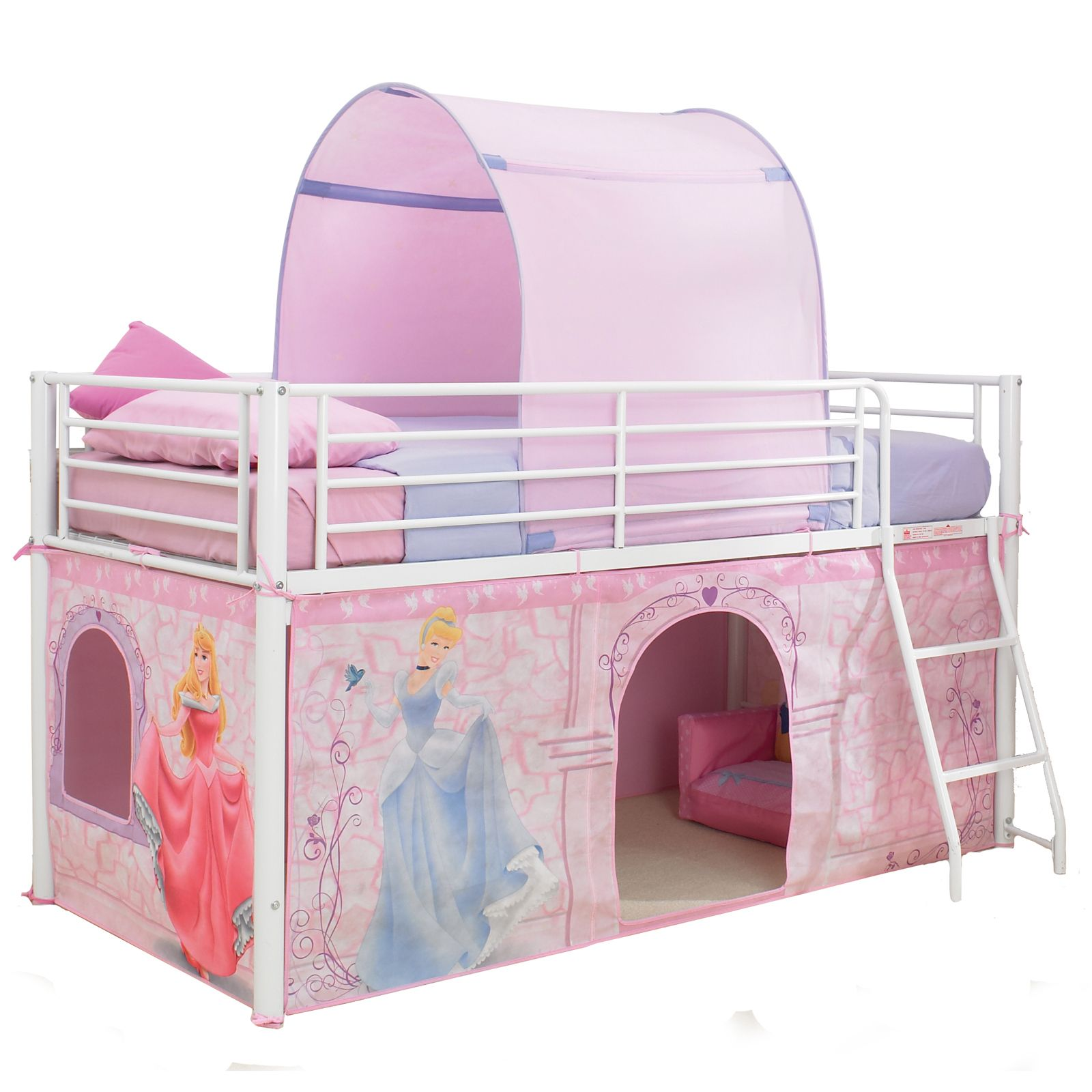 disney princess mid sleeper cabin bed tent new 100 official ebay. Black Bedroom Furniture Sets. Home Design Ideas