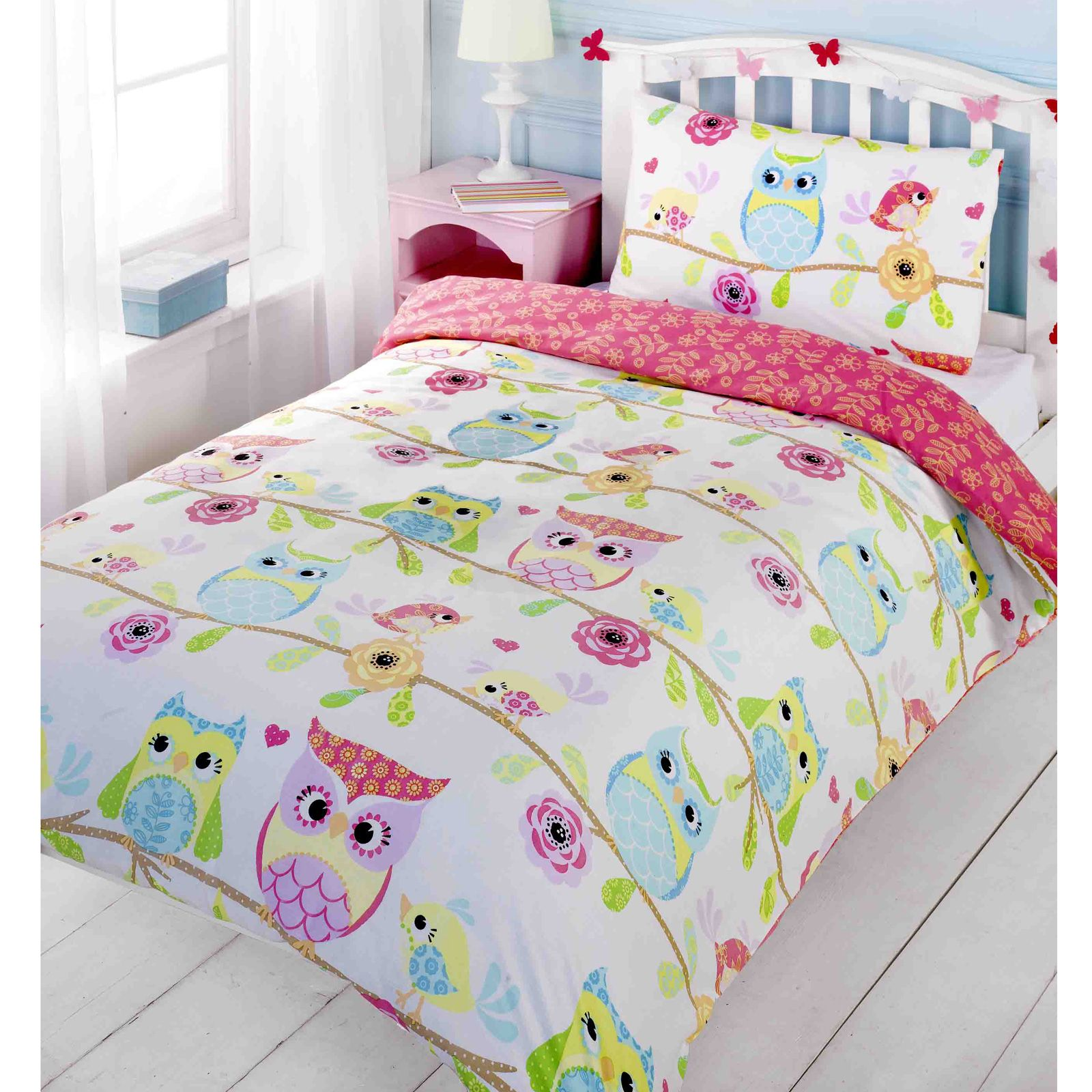 owl themed duvet cover sets available in junior single double bedding free p p ebay