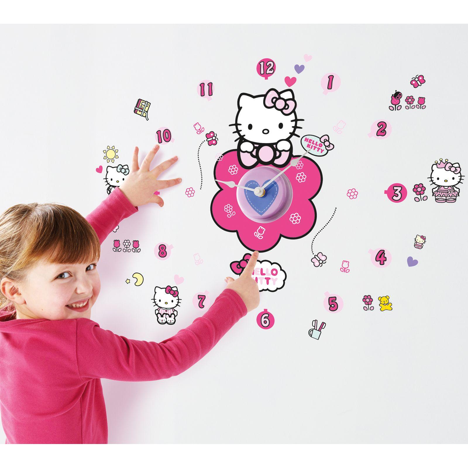Bambini personaggio orologio & adesivi da parete macchine ...