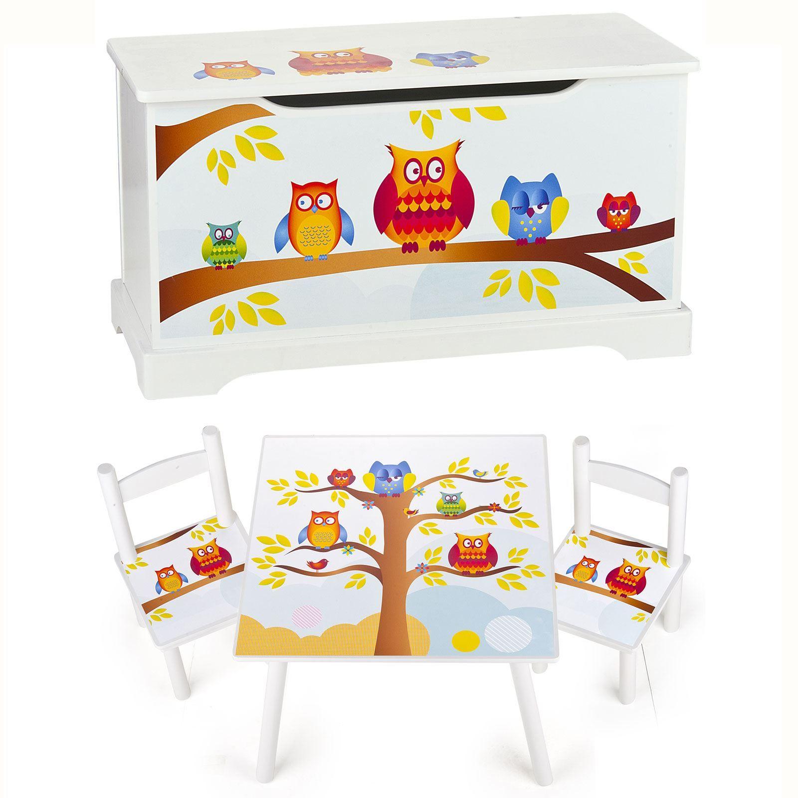 Owls Jungle Animals Wooden Bedroom Furniture Kids: CHILDRENS WOODEN FURNITURE