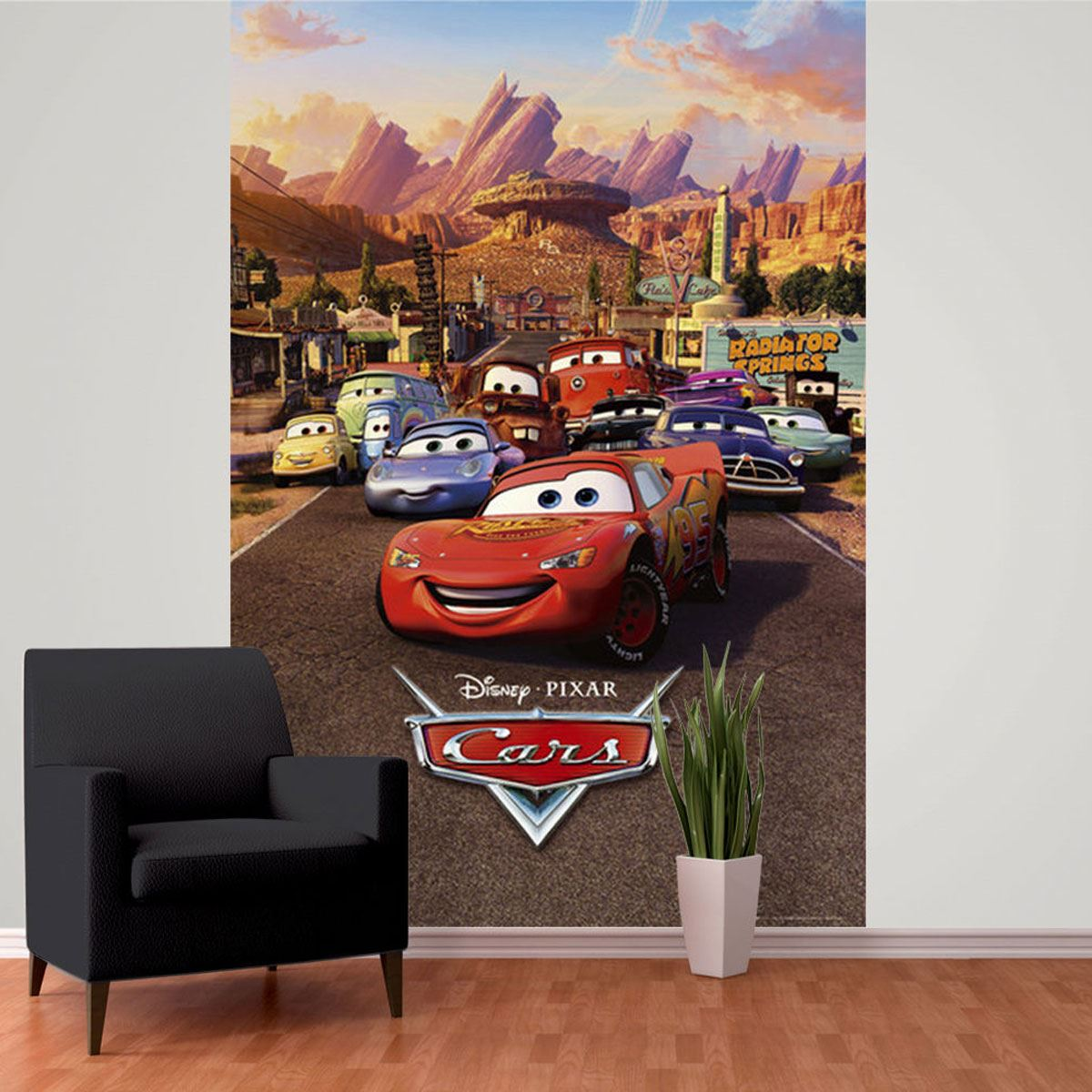 Disney cars wall murals 6 designs available kids bedroom for Disney cars bedroom ideas