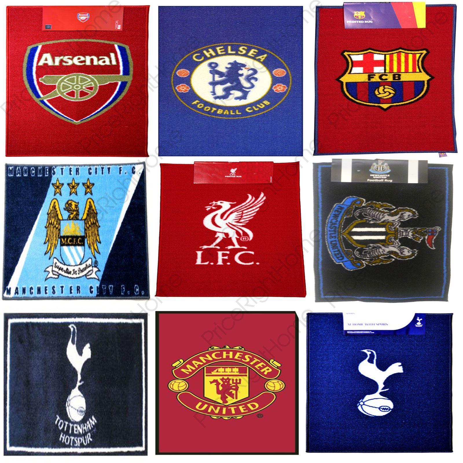 VARIOUS FOOTBALL TEAM RUGS CHELSEA, BARCELONA, ARSENAL