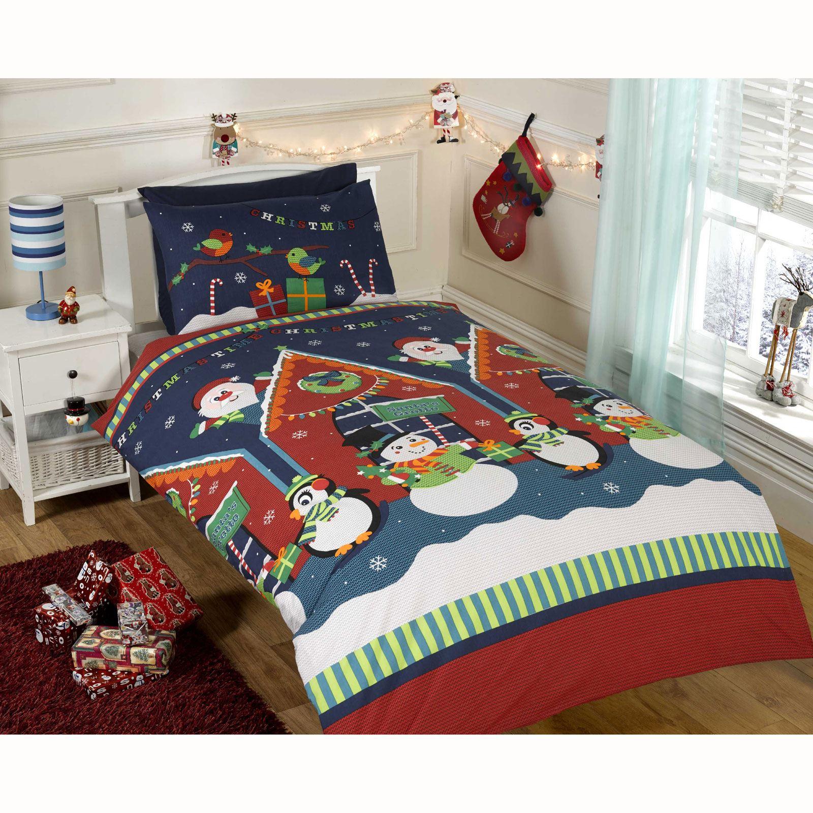 Christmas Duvet Cover Sets Various Styles Snowman Santa