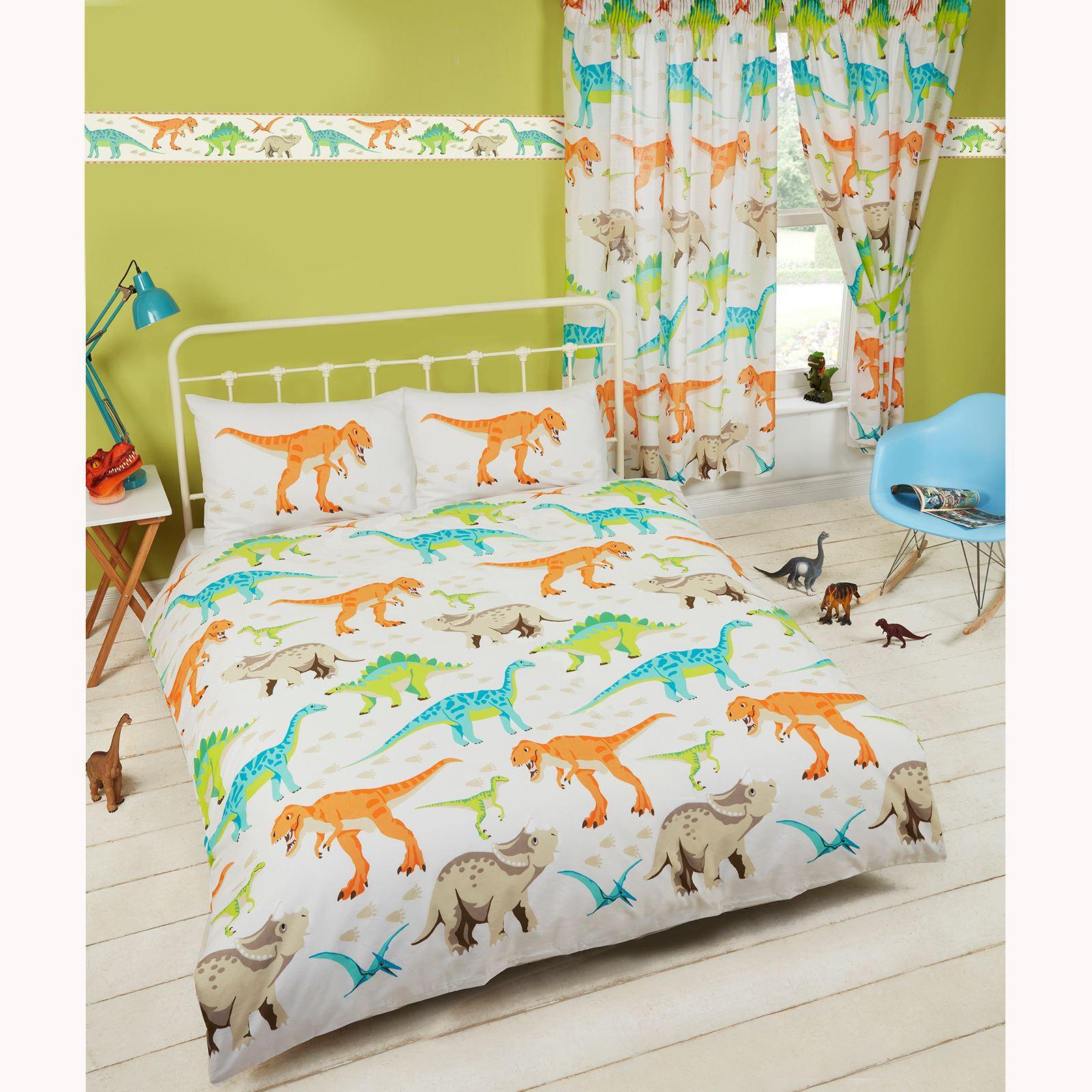 Dinosaur World Kids Matching Bedding Sets Curtains