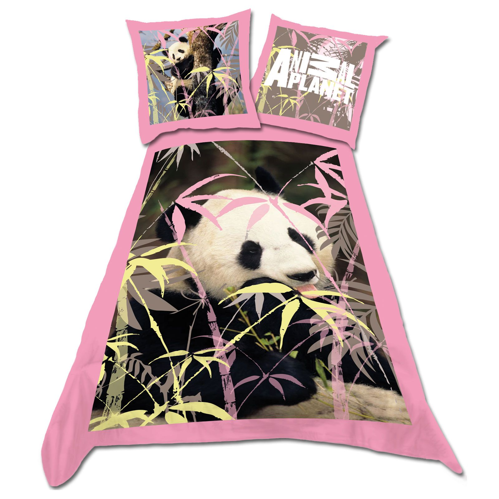 Animal planet 39 panda bear 39 single duvet cover 100 cotton for Parure de couette 260x240