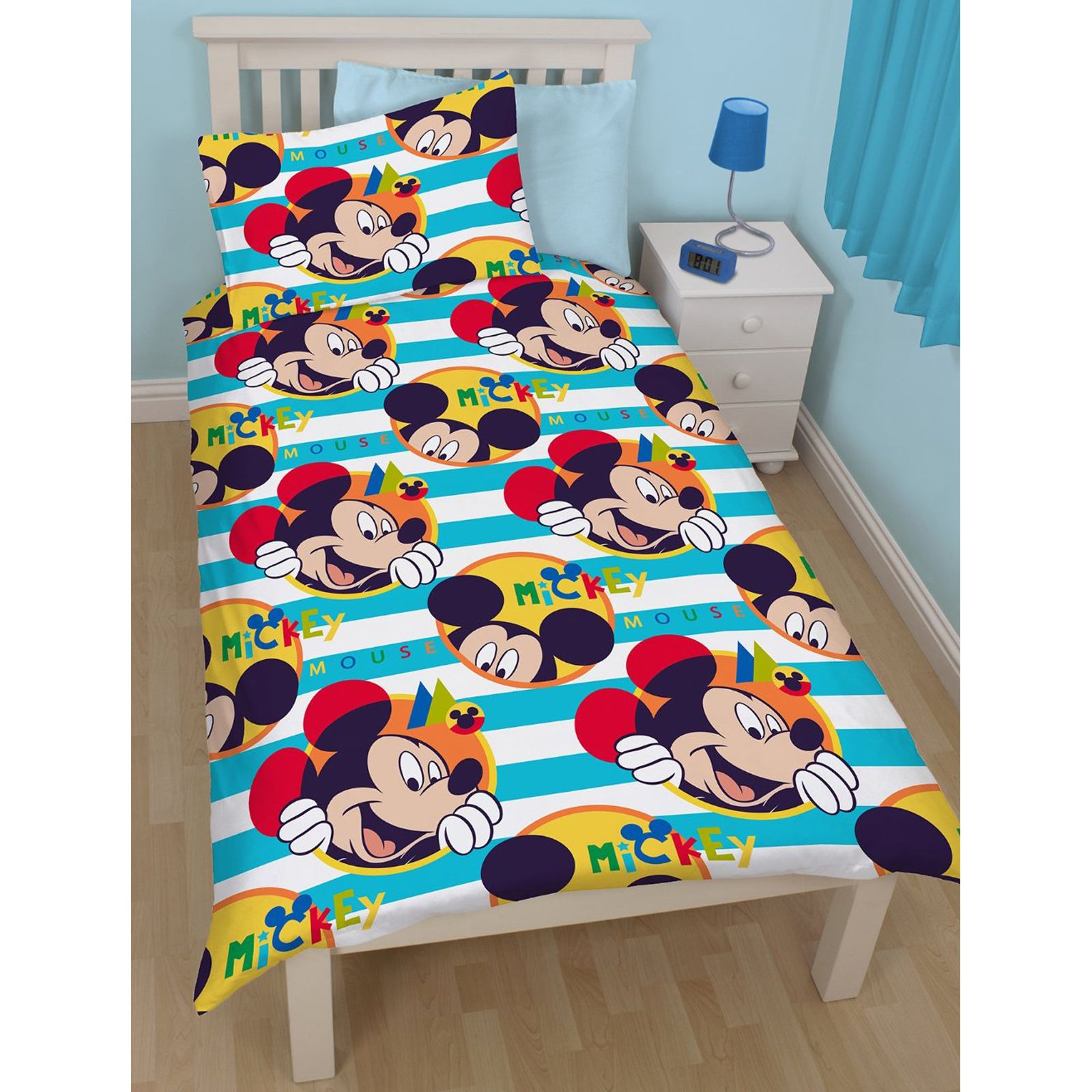 Mickey mouse 39 boo 39 housse couette simple r versible design - Housse de couette mickey adulte ...