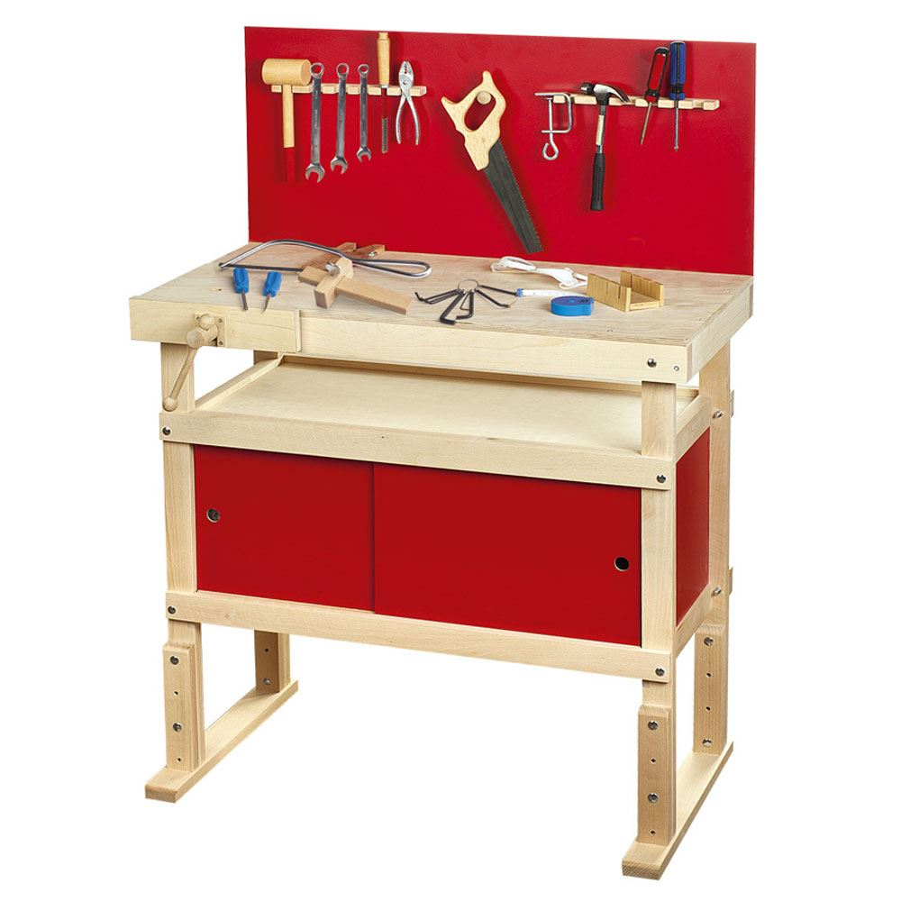 young carpenters work bench with tools new by leomark ebay