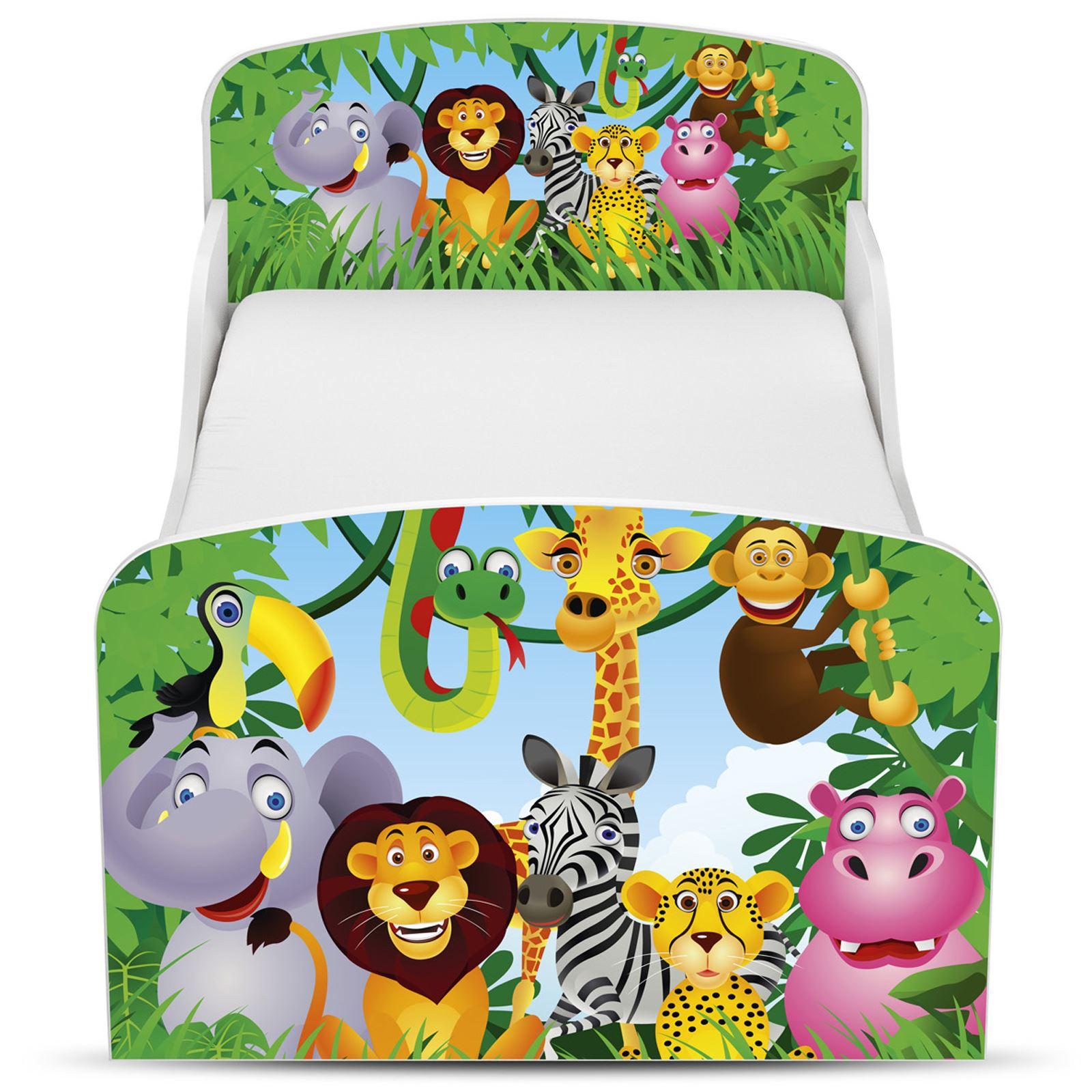 dschungel mdf kleinkind bett mit unterbett aufbewahrung deluxe matratze ebay. Black Bedroom Furniture Sets. Home Design Ideas
