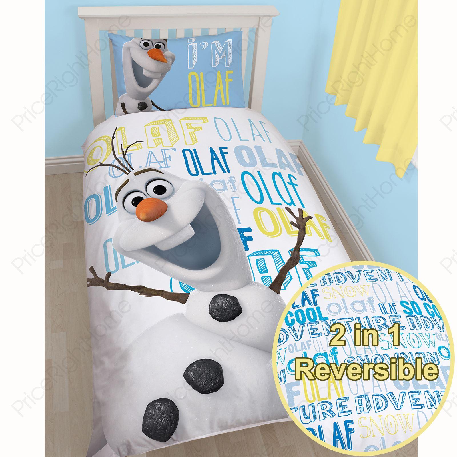 DISNEY FROZEN OLAF SINGLE DUVET COVER SET NEW OFFICIAL