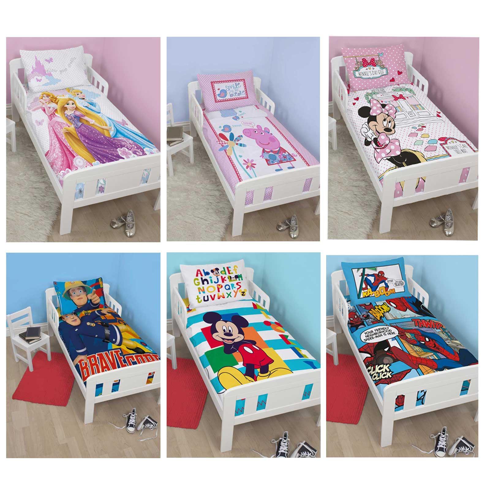 Personaggi disney lettino per bambini copripiumino set biancheria da letto ebay - Biancheria letto disney ...