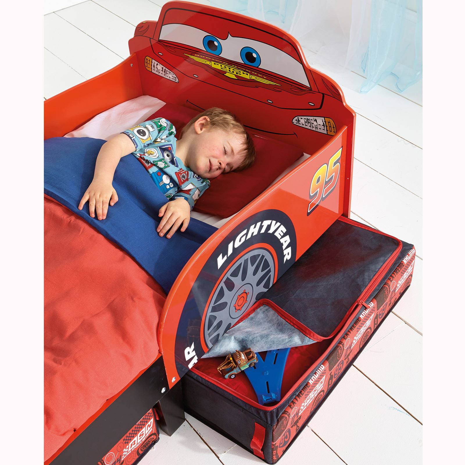 DISNEY CHARACTER TODDLER JUNIOR BEDS WITH STORAGE 3