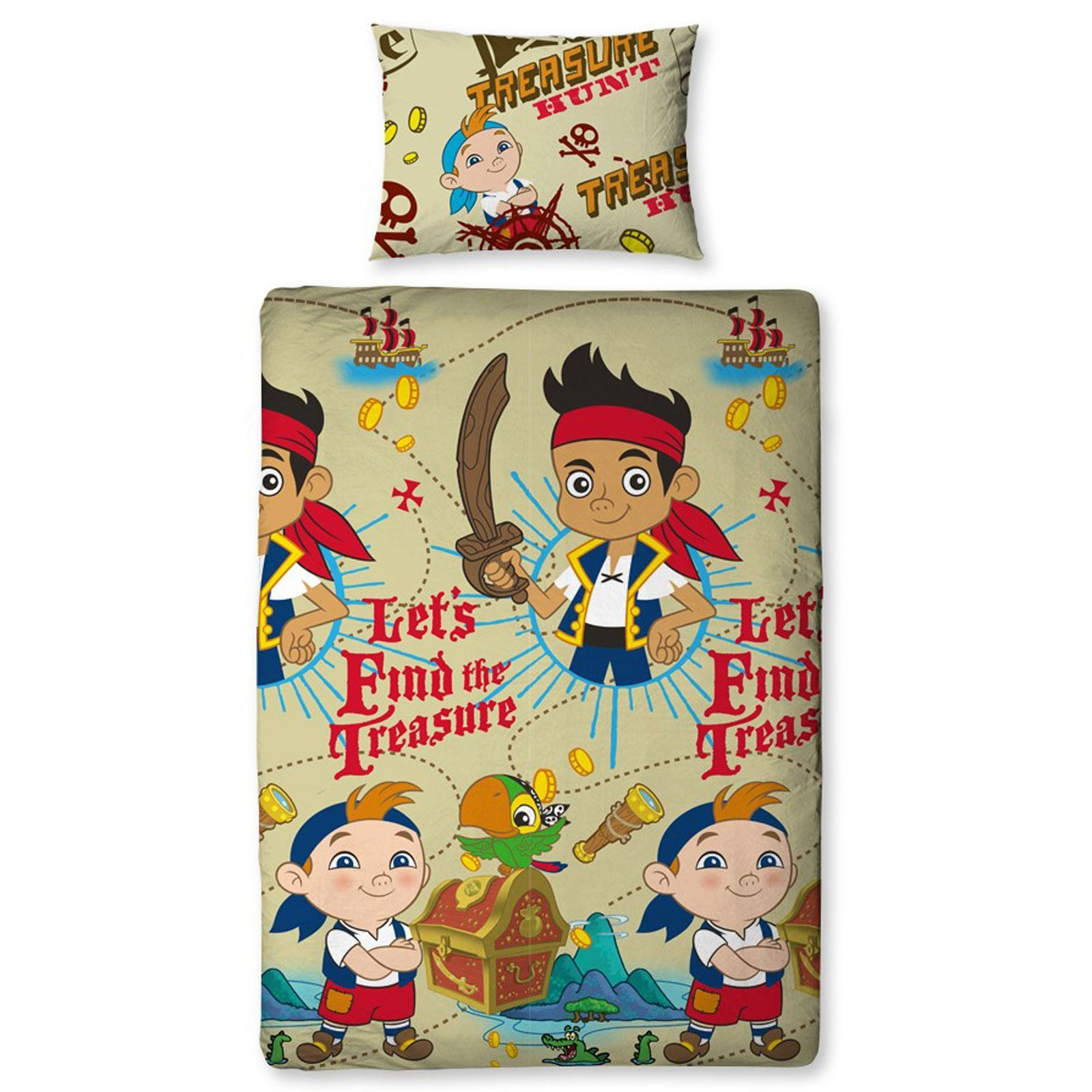 Jake The Neverland Pirates Bedroom Duvet Covers Curtains Single Double