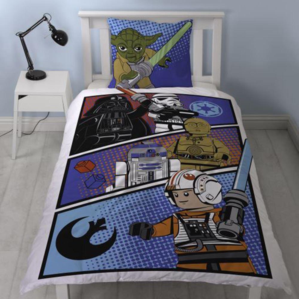 star wars lego 100 housse de couette en coton couverture set literie ebay. Black Bedroom Furniture Sets. Home Design Ideas