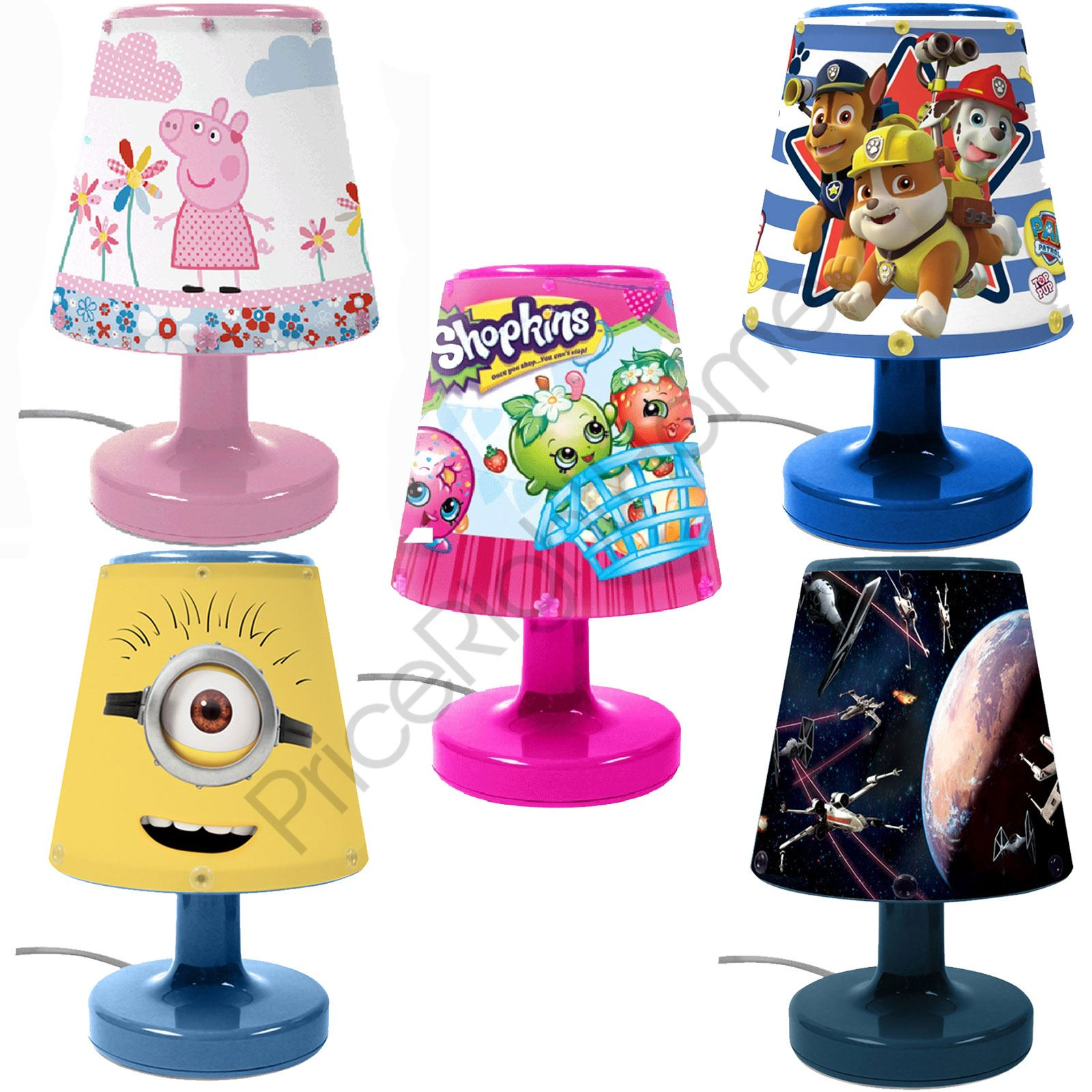 about disney character kids bedroom bedside lamps for boys and girls