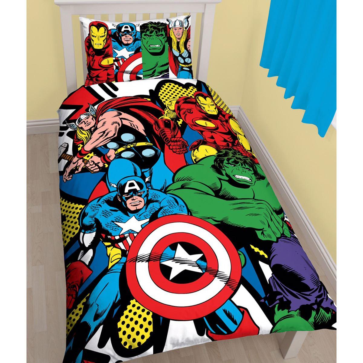 SUPERHERO SINGLE & DOUBLE BEDDING – MARVEL COMICS ...