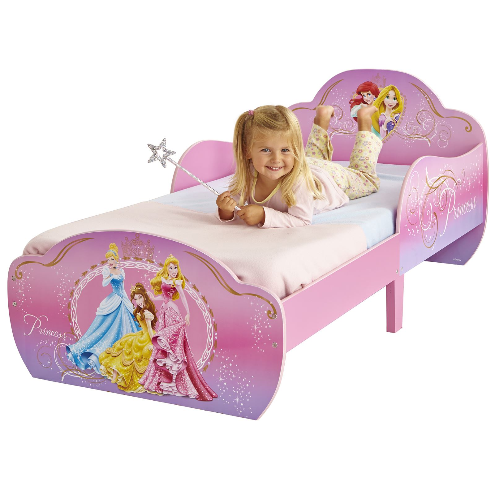 DISNEY PRINCESS SNUGGLETIME MDF TODDLER BED NEW GIRLS