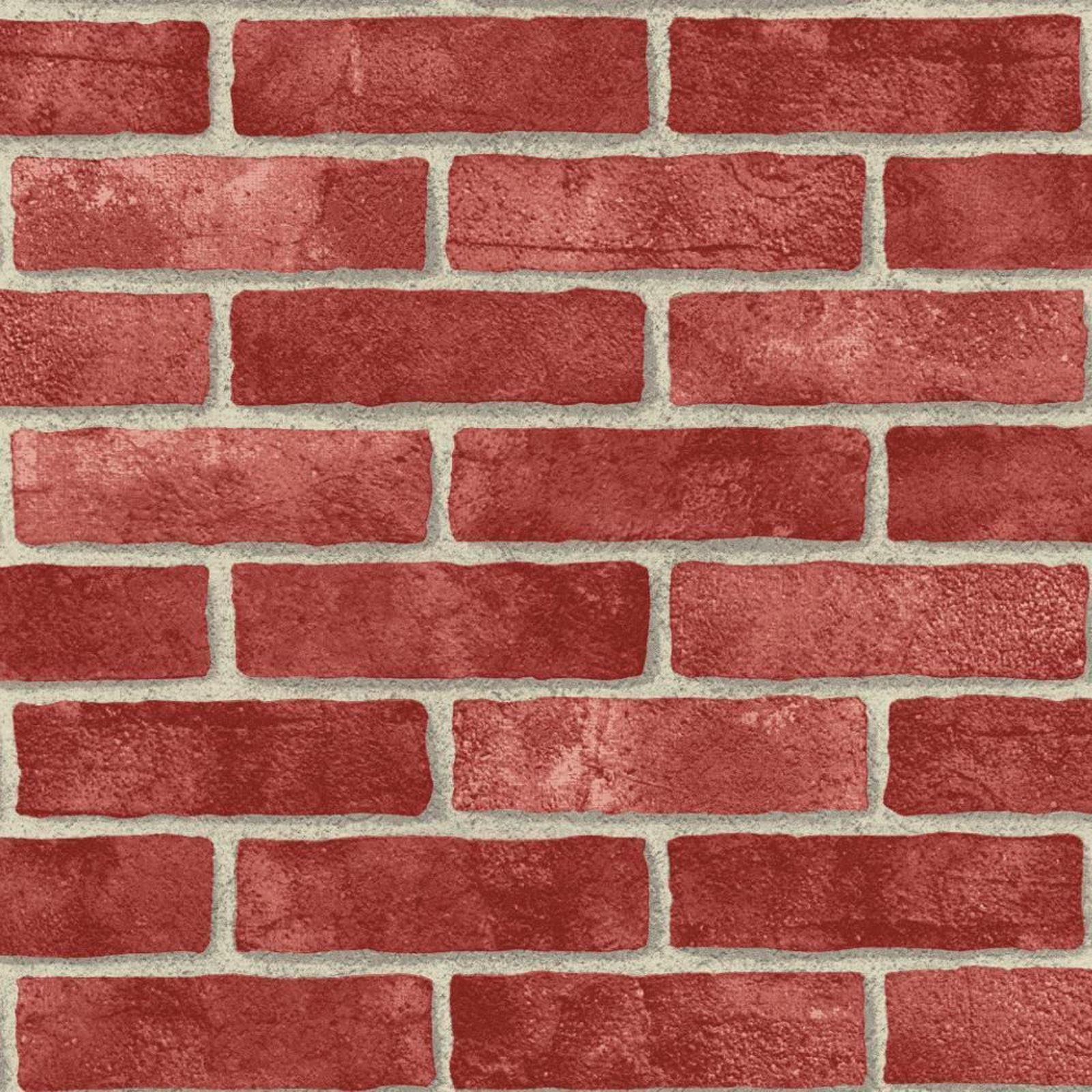 Red brick effect wallpaper suitable for any room feature Red brick wallpaper living room