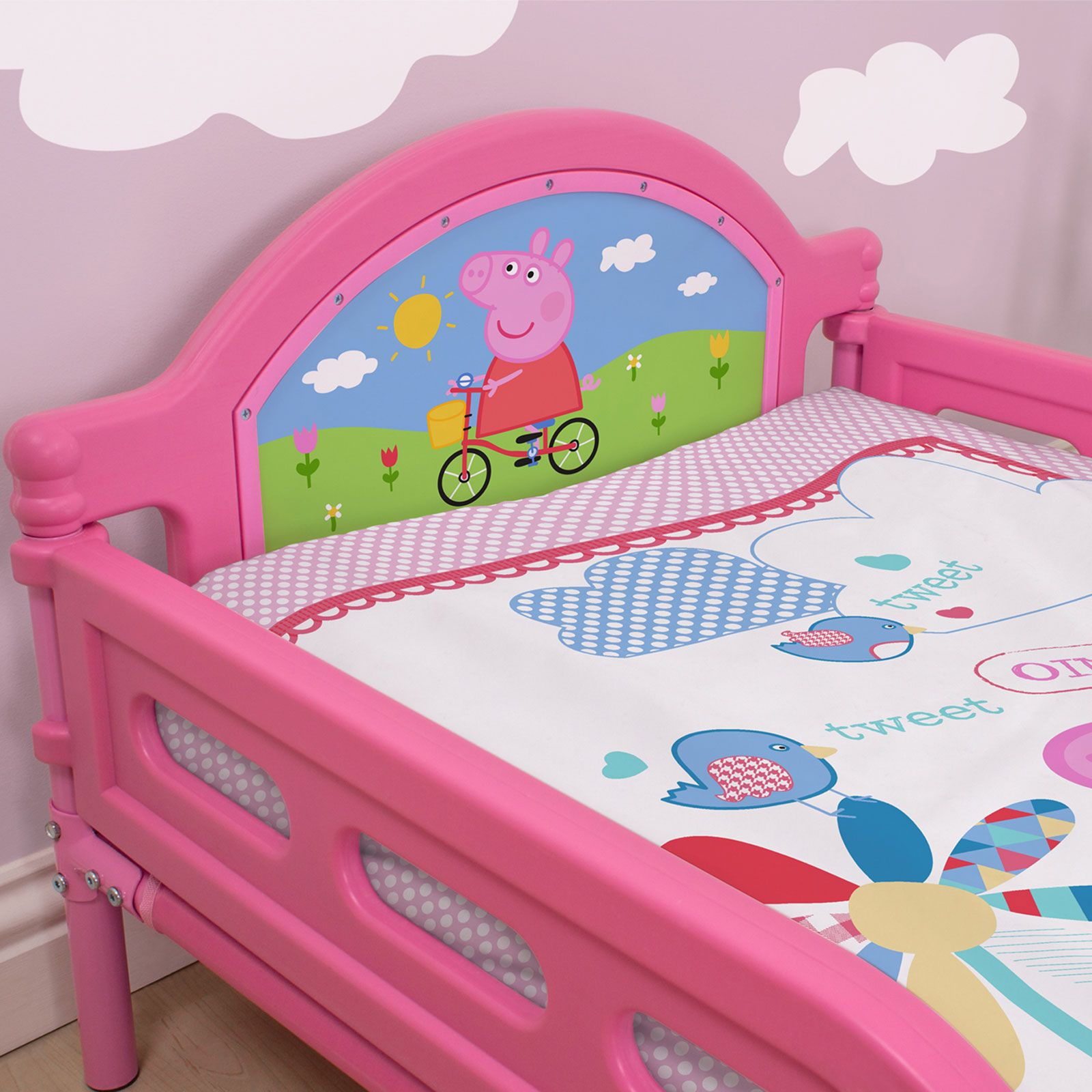 PEPPA PIG 'TULIP' JUNIOR TODDLER BED + MATTRESS NEW ...