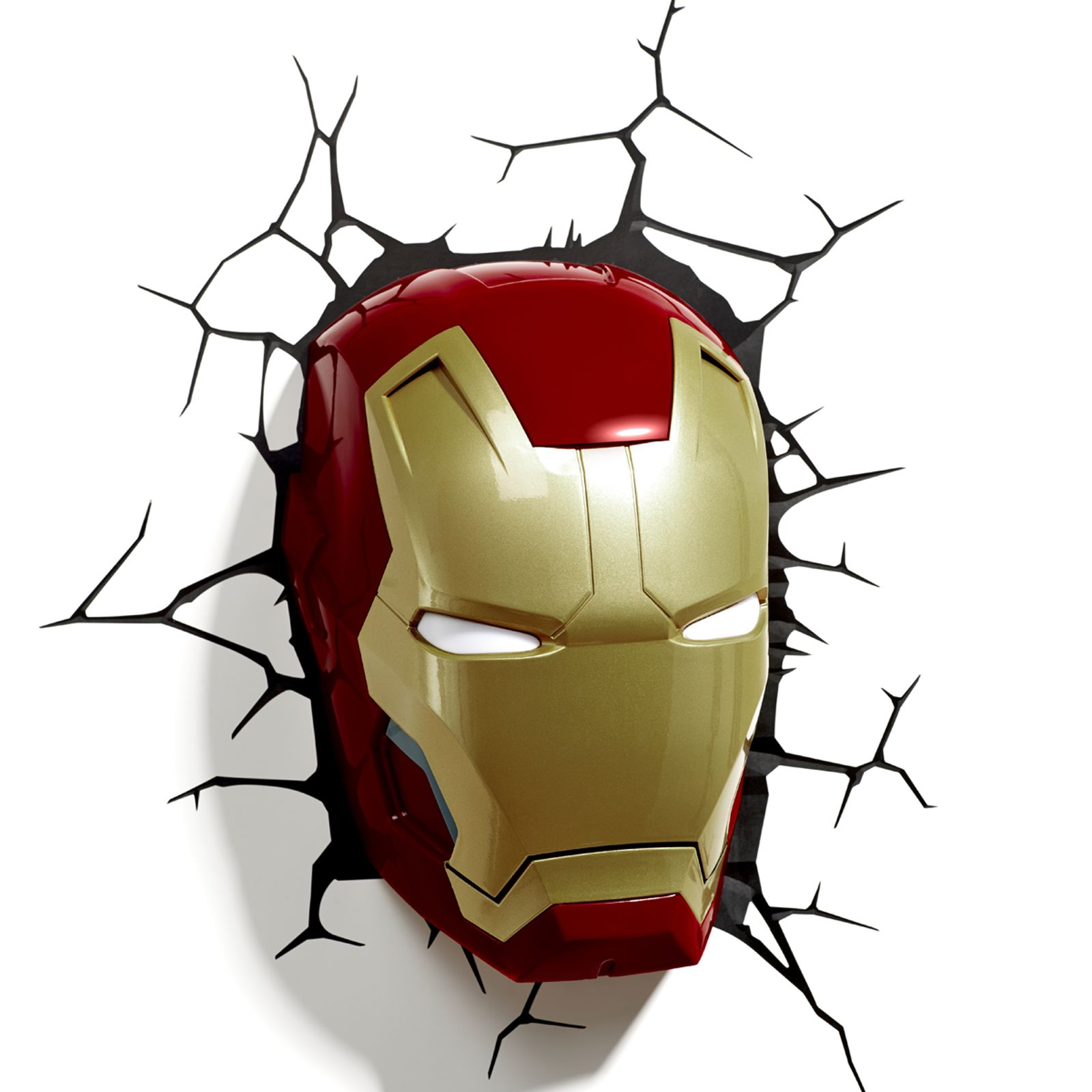 Marvel avengers 3d wall light hulk iron man captain for Lampe decoration murale 3d marteau thor