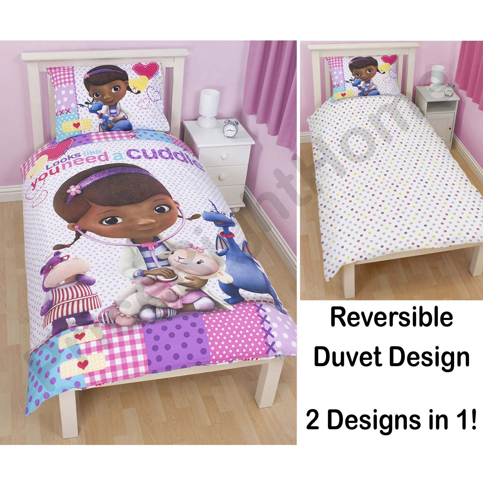 DOC McSTUFFINS BEDDING SINGLE AND DOUBLE DUVET COVER. DOC McSTUFFINS BEDDING SINGLE AND DOUBLE DUVET COVER SETS GIRLS