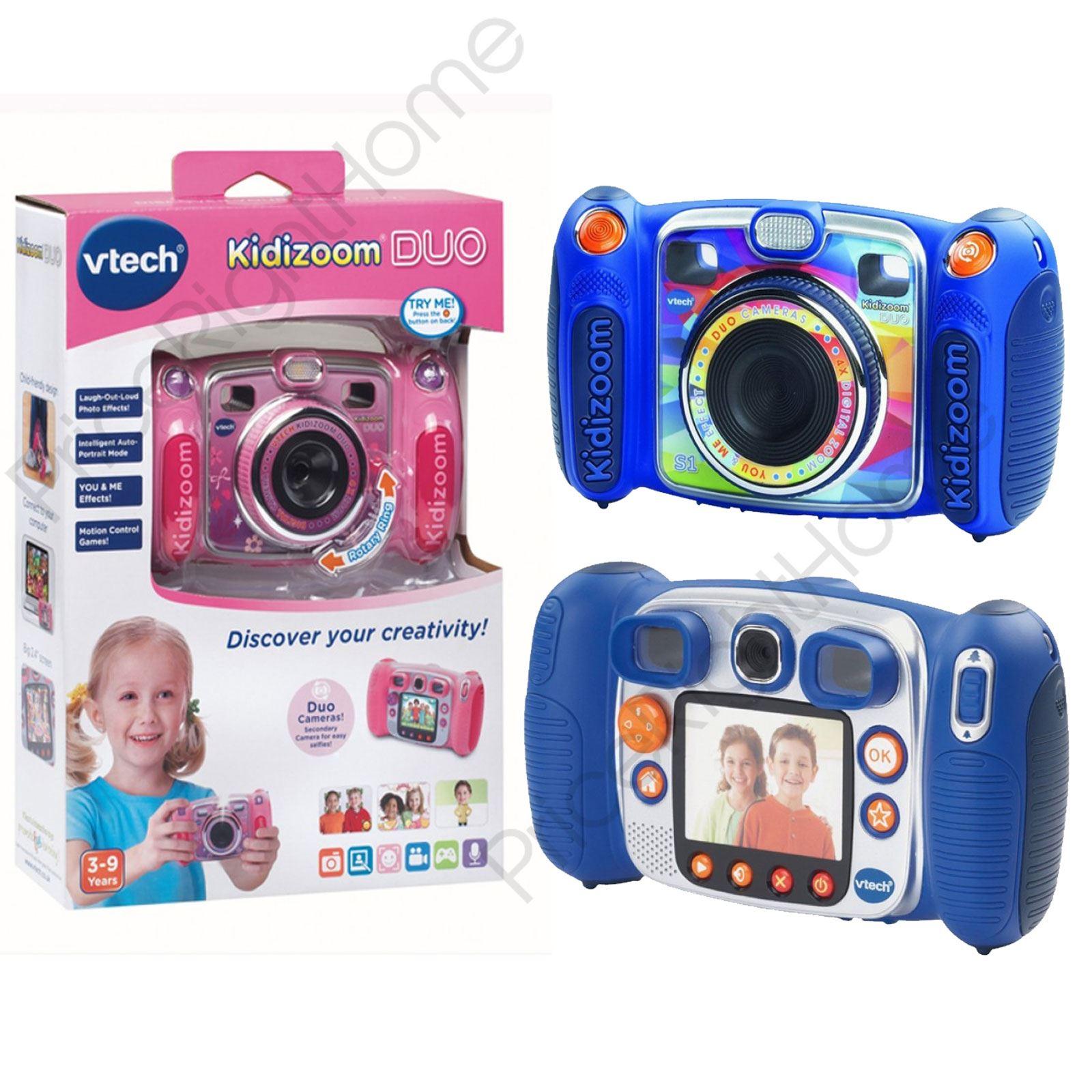 vtech kidizoom duo digital camera 2mp 4 x zoom blue pink. Black Bedroom Furniture Sets. Home Design Ideas