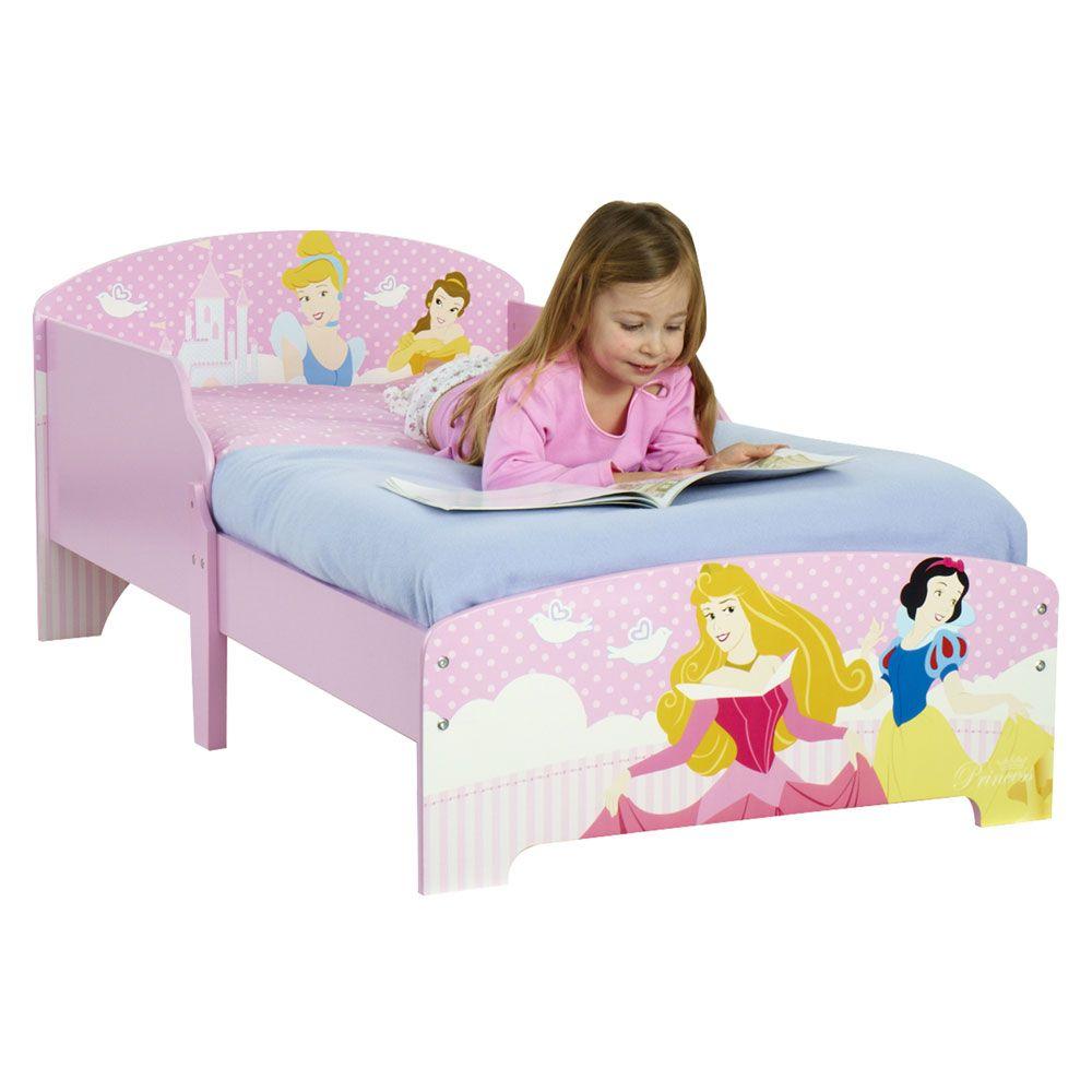Disney princess pink toddler bed girls bedroom new 18 months ebay - Princess bed for toddler girl ...