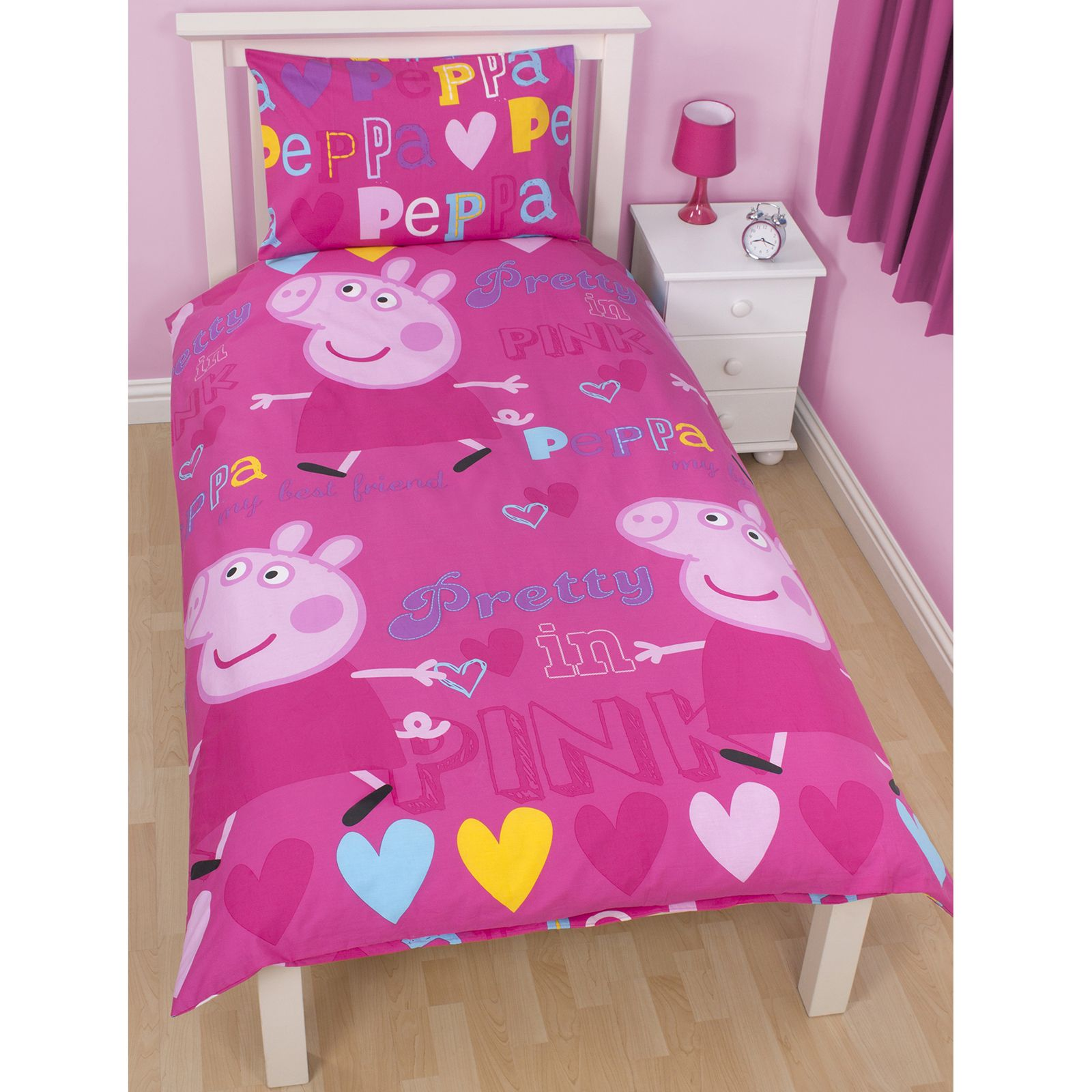 Peppa Pig Bedroom Accessories Peppa Pig Amp George Pig Duvet Quilt Covers Toddler Single