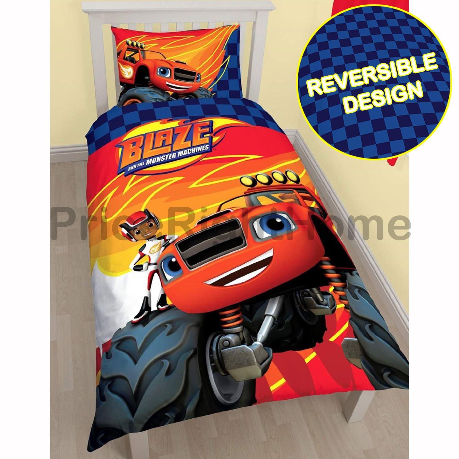Blaze Zoom Single Duvet Cover Set 4 X 4 Monster Truck
