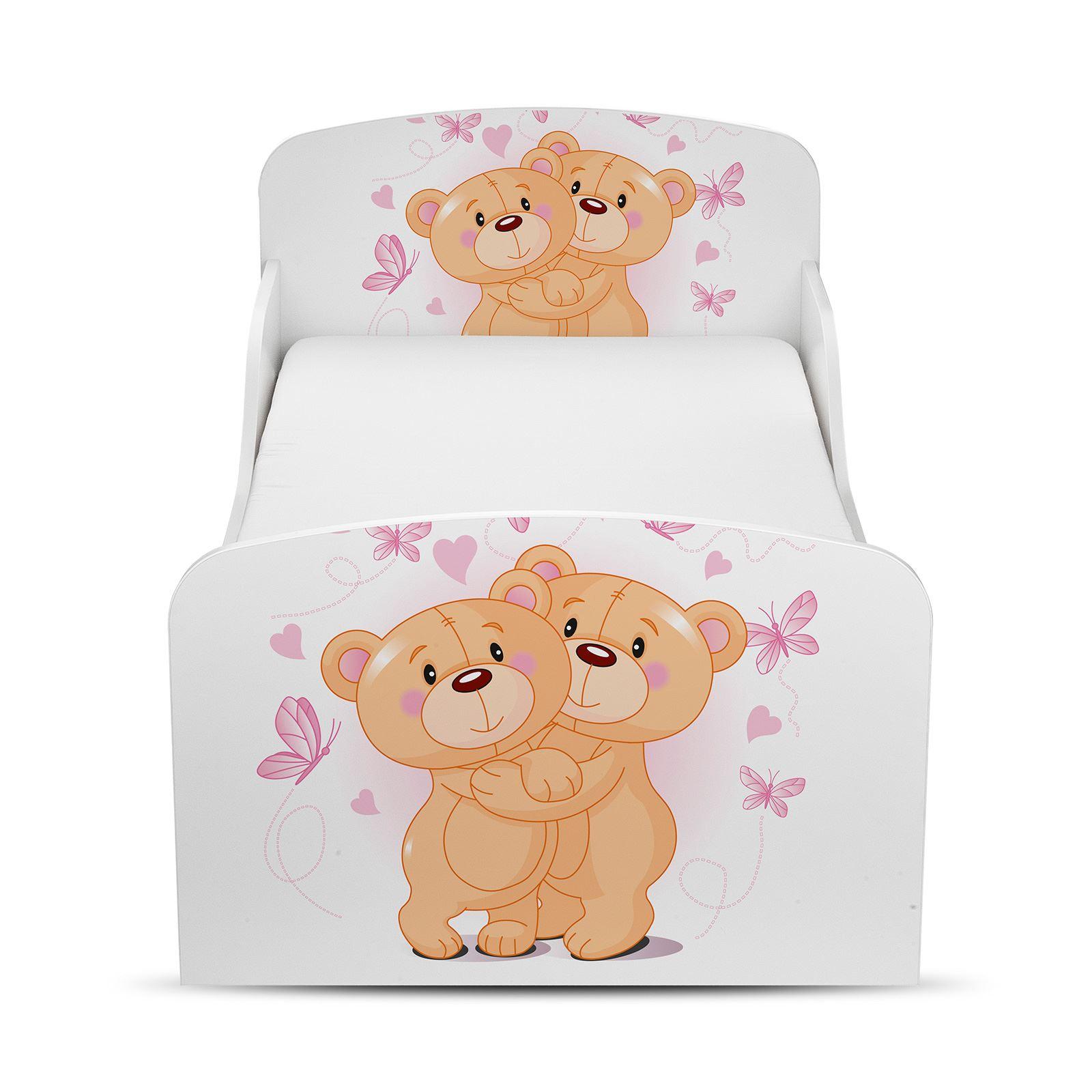 pricerighthome teddyb r umarmung kleinkind bett mit schutz seiten verkleidung ebay. Black Bedroom Furniture Sets. Home Design Ideas