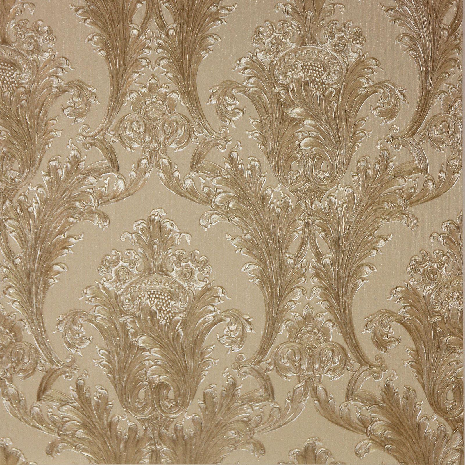 Arthouse Figaro Damask Wallpaper Red Cream Charcoal