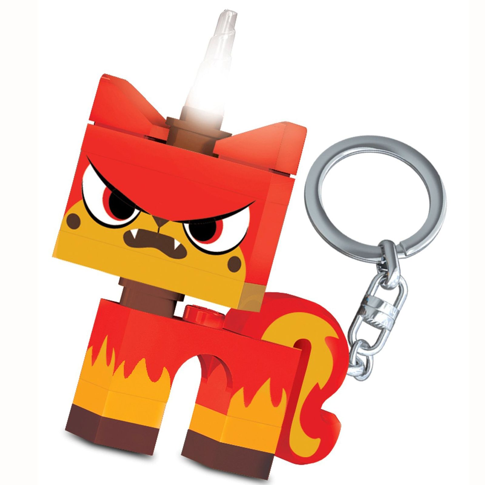 details about lego movie angry uni kitty led lite keylight torch new