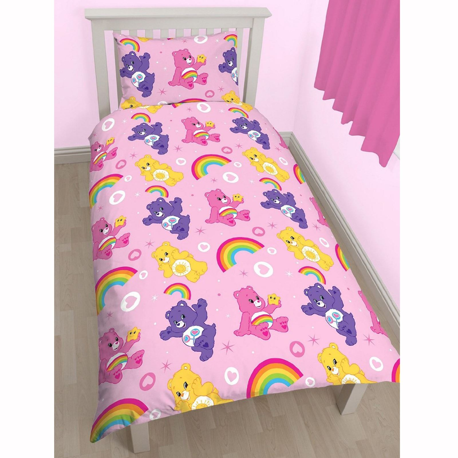 Care Bears Share Twin Duvet Cover Bed Sheets Set New