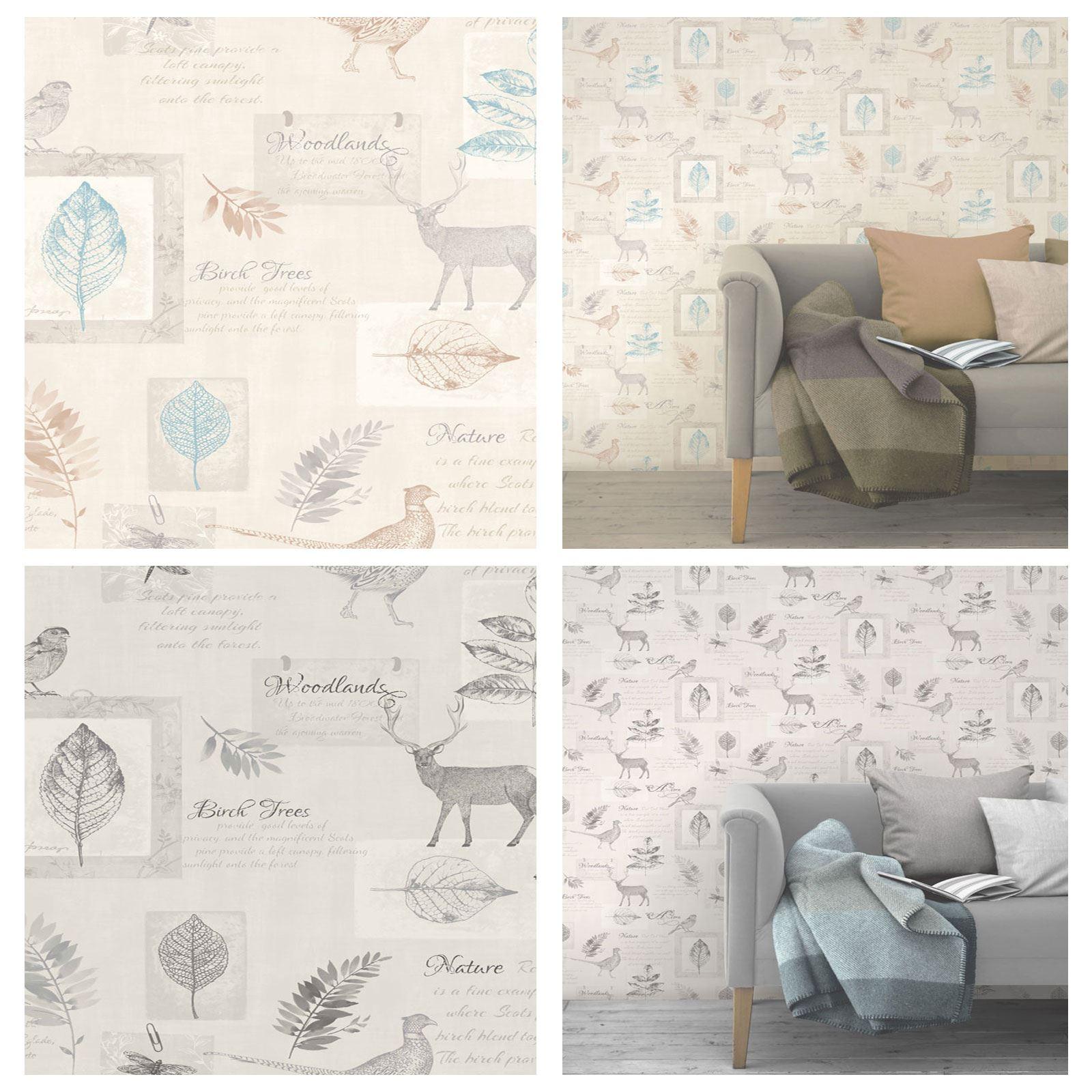 collage stag fine decor luxury designer wallpaper feature wall ebay