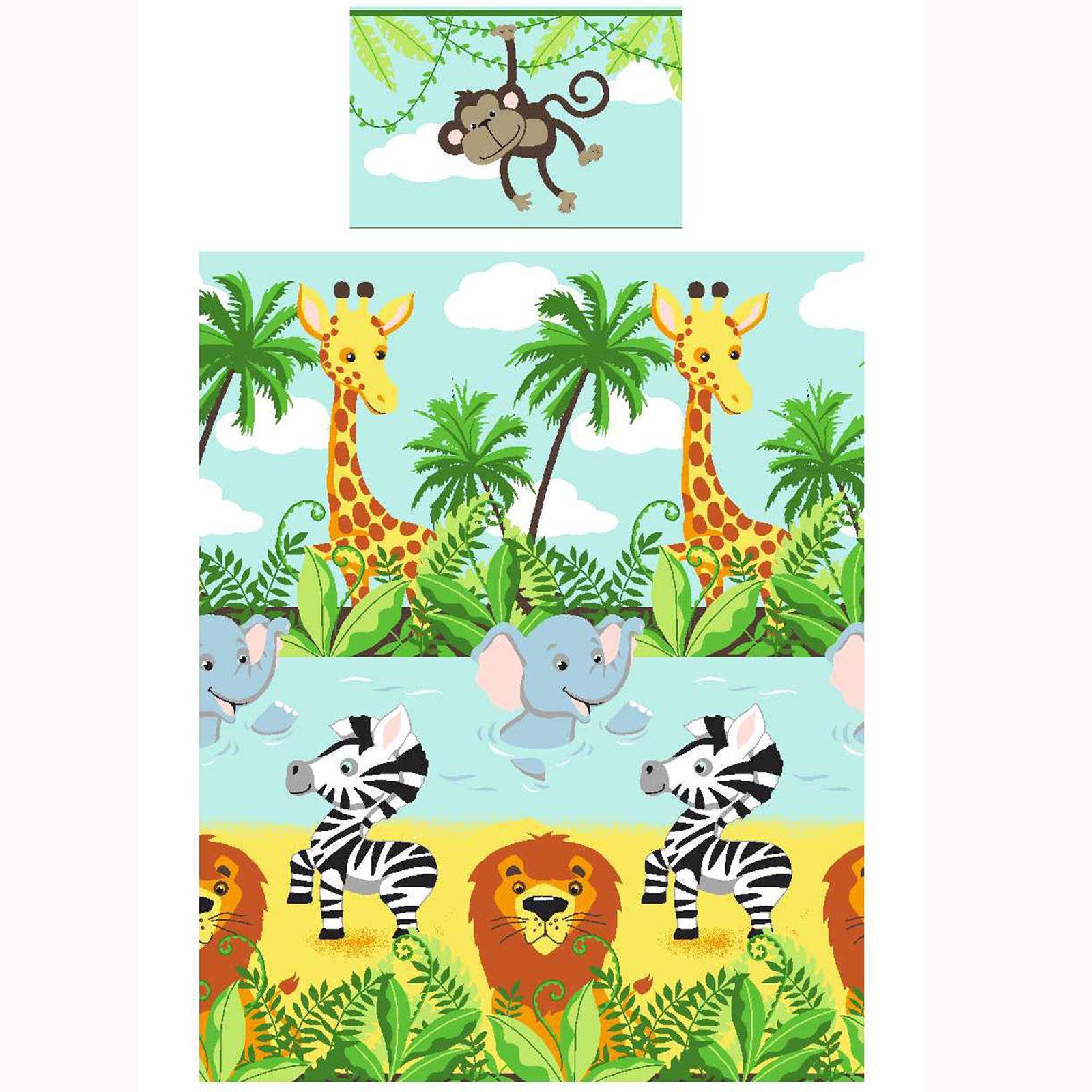 Jungle tastique chambre gamme enfants unique double junior for Housse de couette enfant jungle