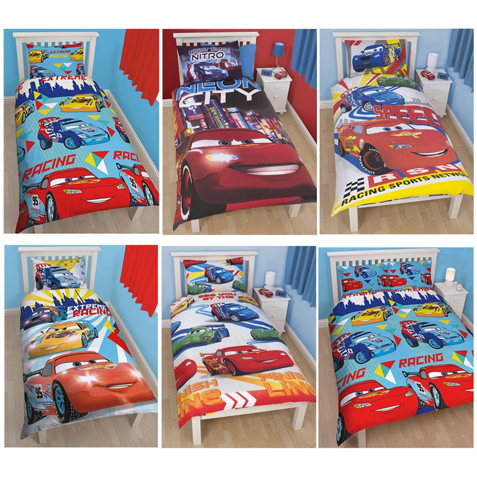disney cars lightning mcqueen bedding single double junior covers
