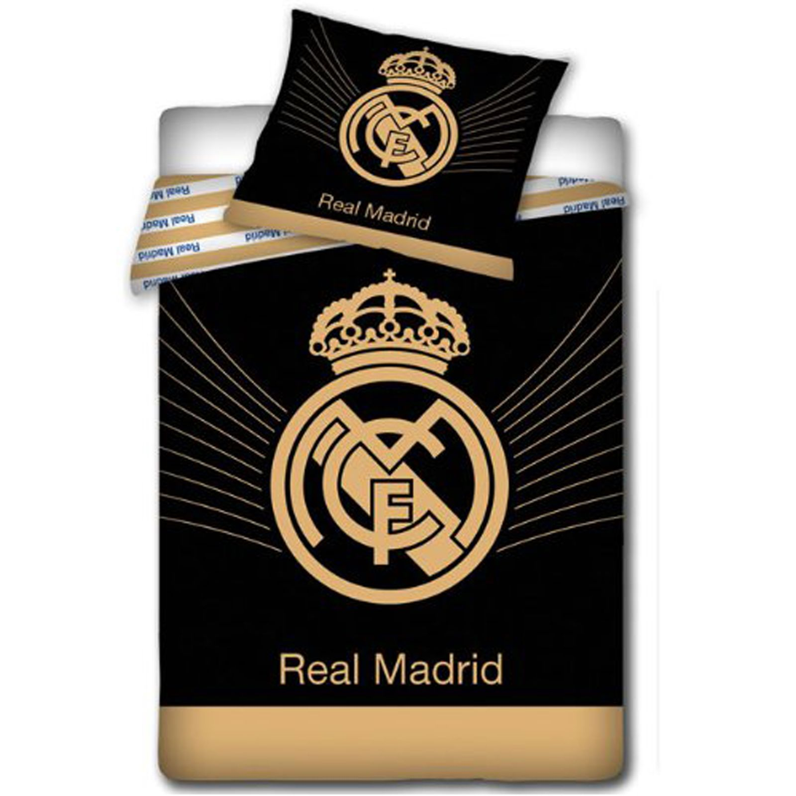 Officiel real madrid simple & couverture double lit couvres ...