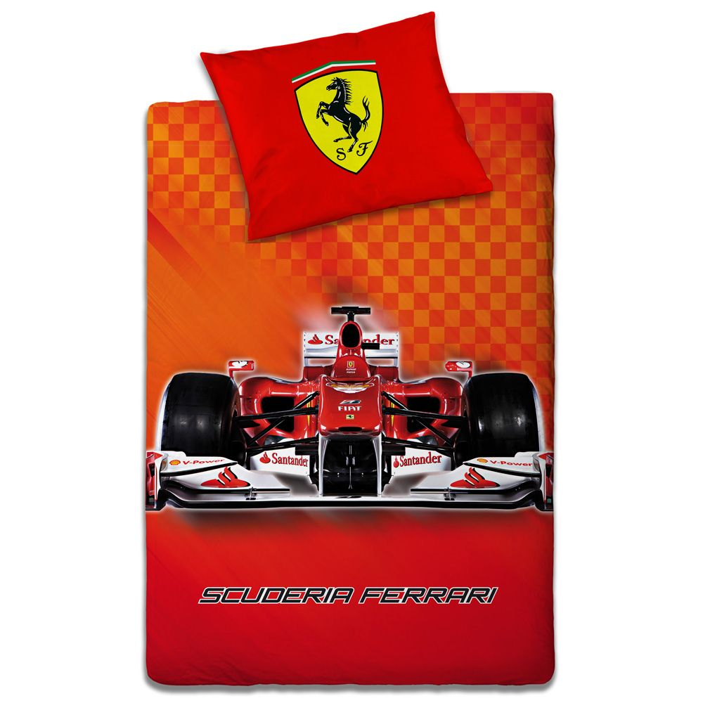 Official Ferrari Design Duvet Cover Sets Boys Bedroom