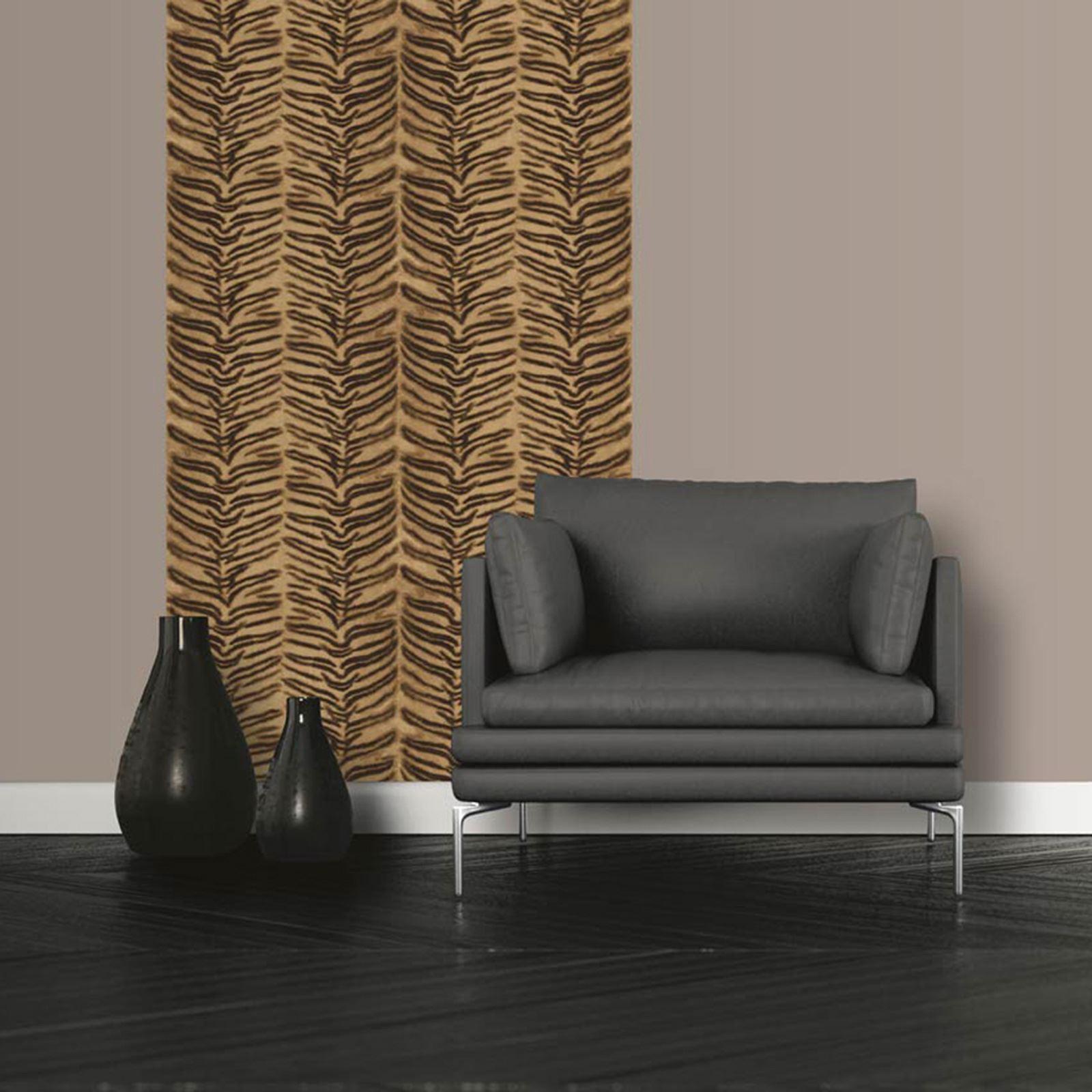 muriva tigre impression animal papier peint texture r aliste blanc naturel dor ebay. Black Bedroom Furniture Sets. Home Design Ideas