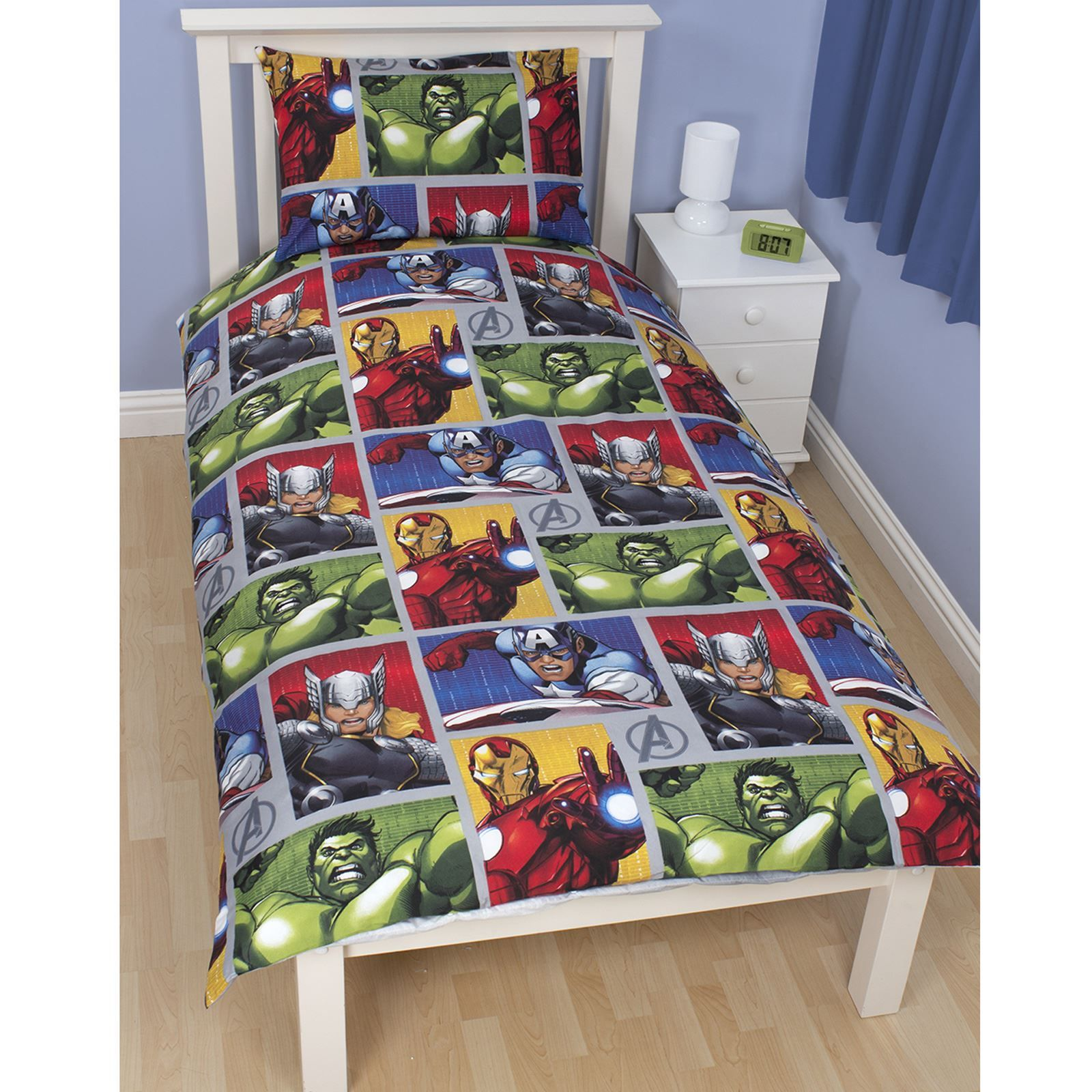 ... AVENGERS MARVEL COMICS BEDDING + BEDROOM ACCESSORIES DUVETS CURTAINS