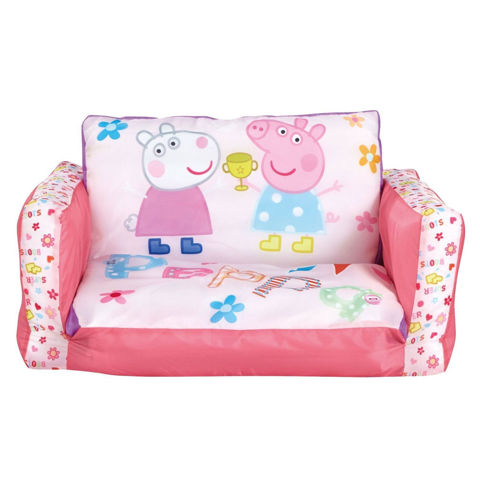 peppa pig flip out inflatable sofa kids room new free p p