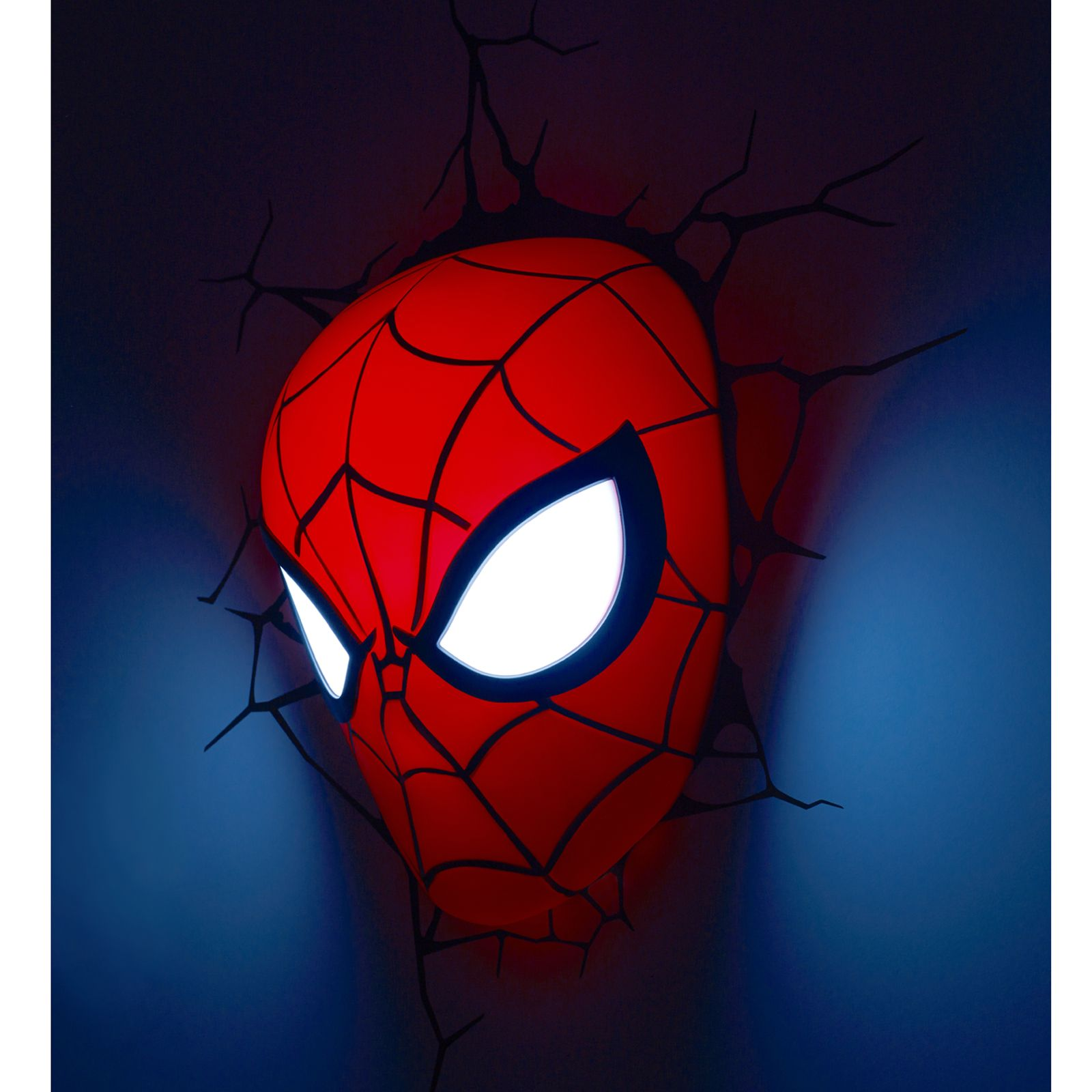 Marvel Wall Lights Spiderman : MARVEL SPIDERMAN 3D LED WALL LIGHT LAMP MASK + STICKERS NEW eBay