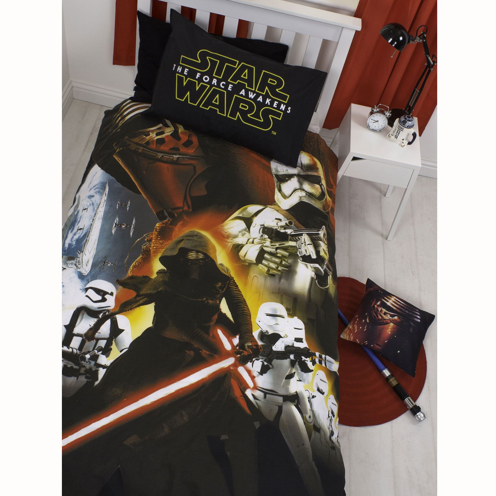 star wars episode vii wecken einzel bettw sche 1 designs kraft erwacht ebay. Black Bedroom Furniture Sets. Home Design Ideas