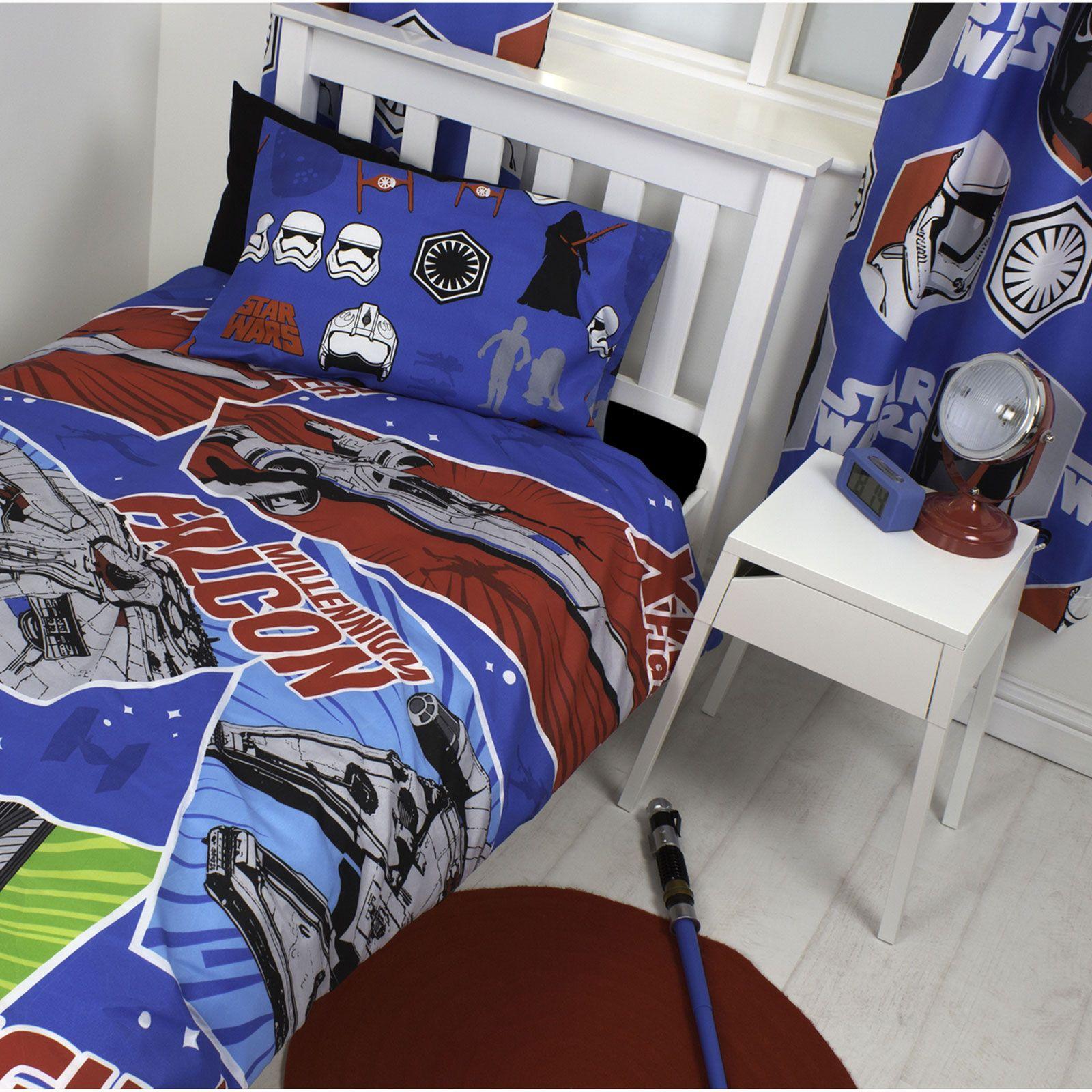 la guerre des etoiles pisode vii artisanat housse couette simple gratuit petit ebay. Black Bedroom Furniture Sets. Home Design Ideas