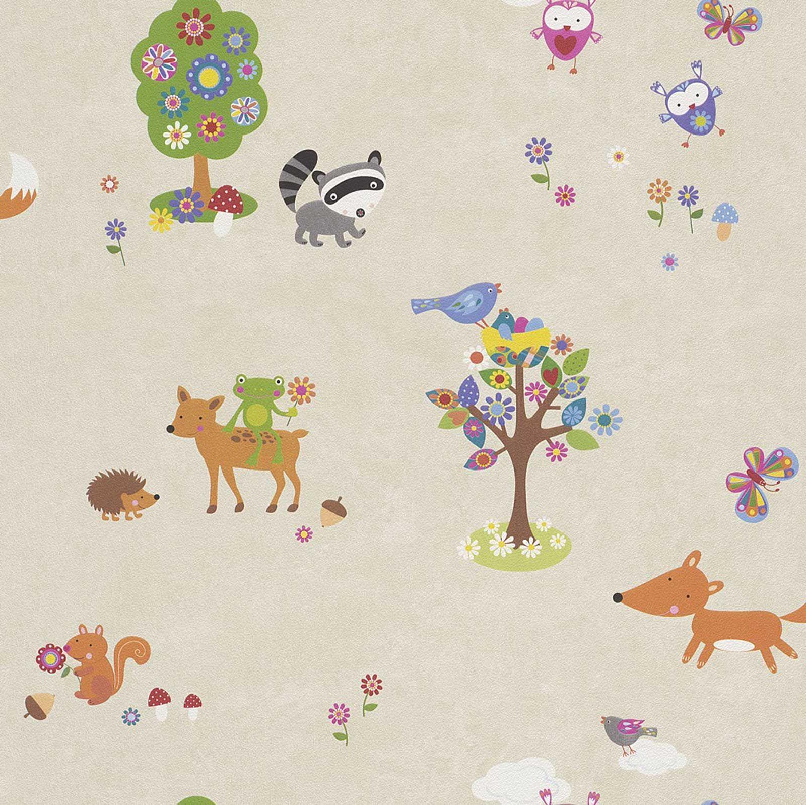woodland animals wallpaper borders bedroom nursery. Black Bedroom Furniture Sets. Home Design Ideas