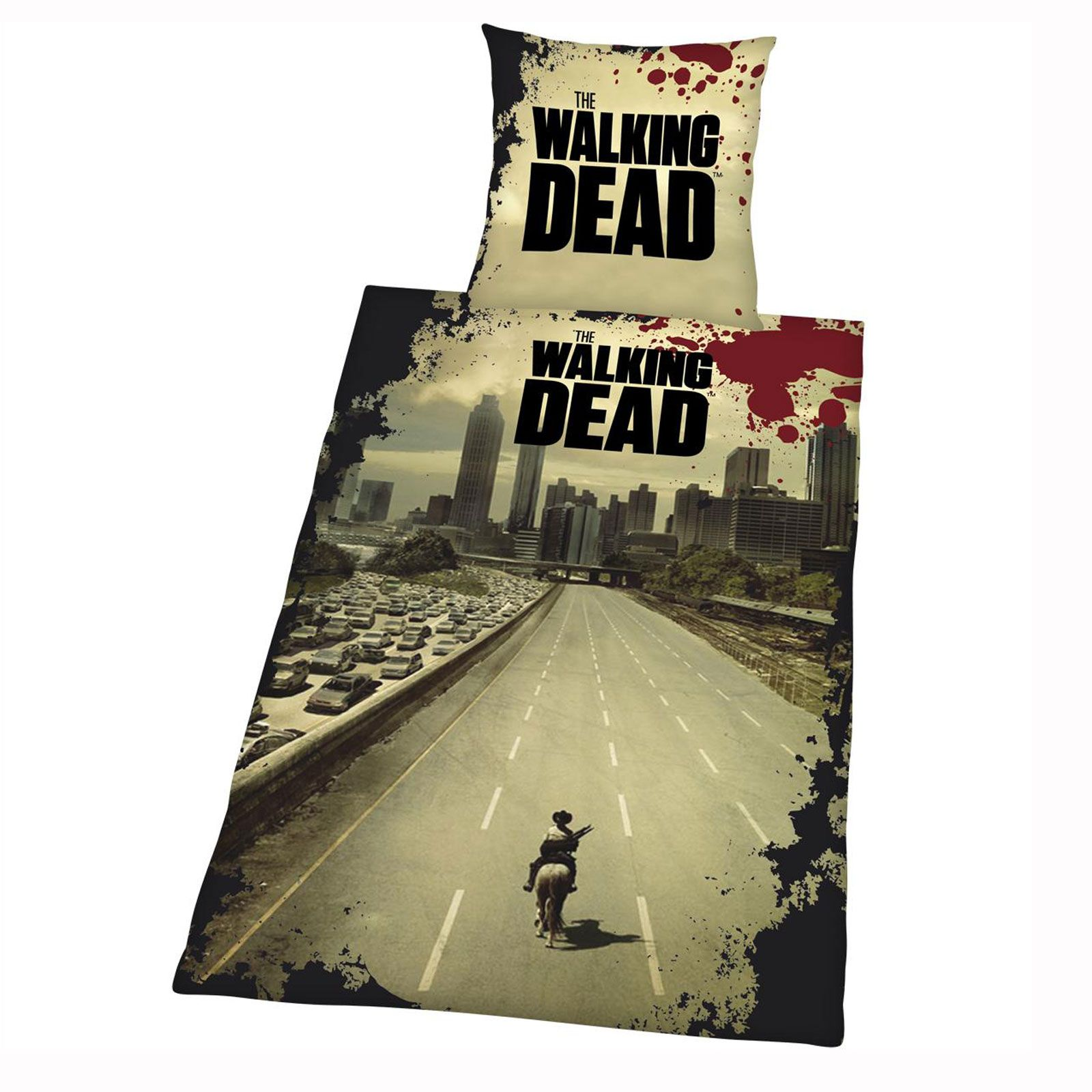 The Walking Dead Duvet Cover Set New Official Zombie