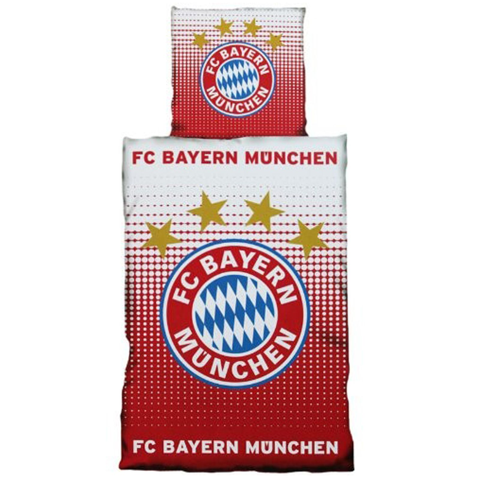 fc bayern m nchen 39 gradient 39 einzel bettw sche set 100. Black Bedroom Furniture Sets. Home Design Ideas